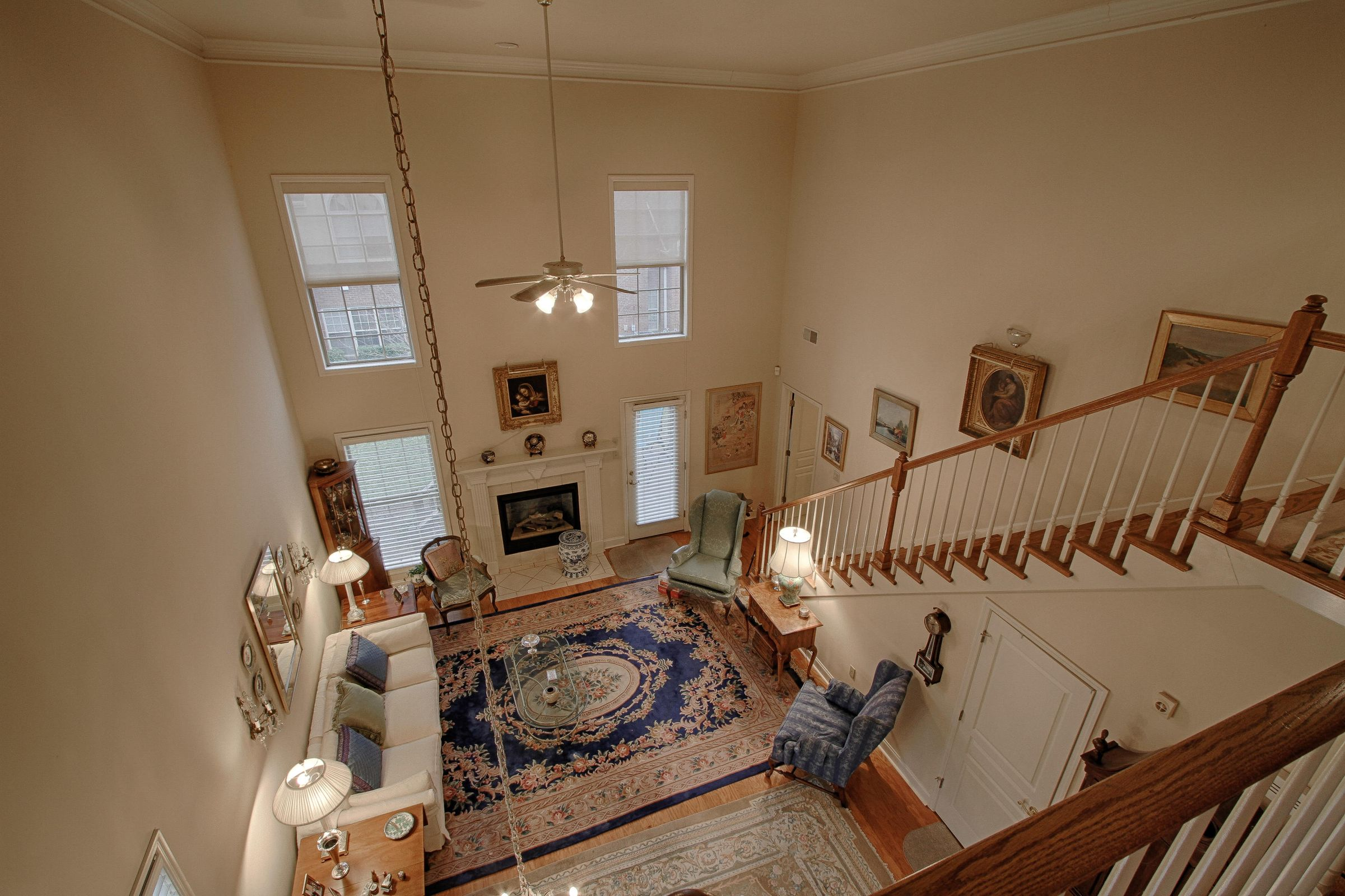 15 - View of Great Rm from Loft area