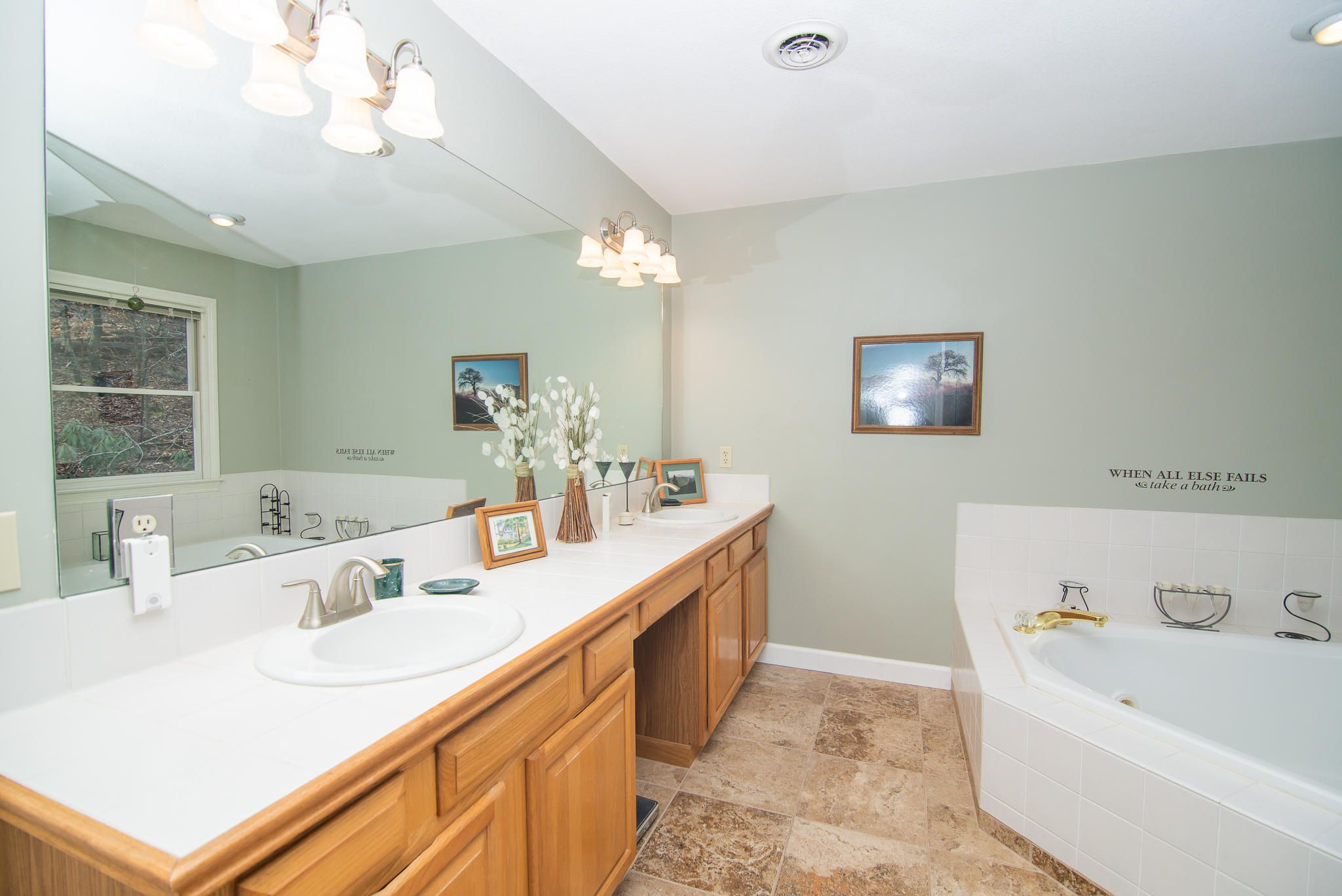 Master bath has radiant floors