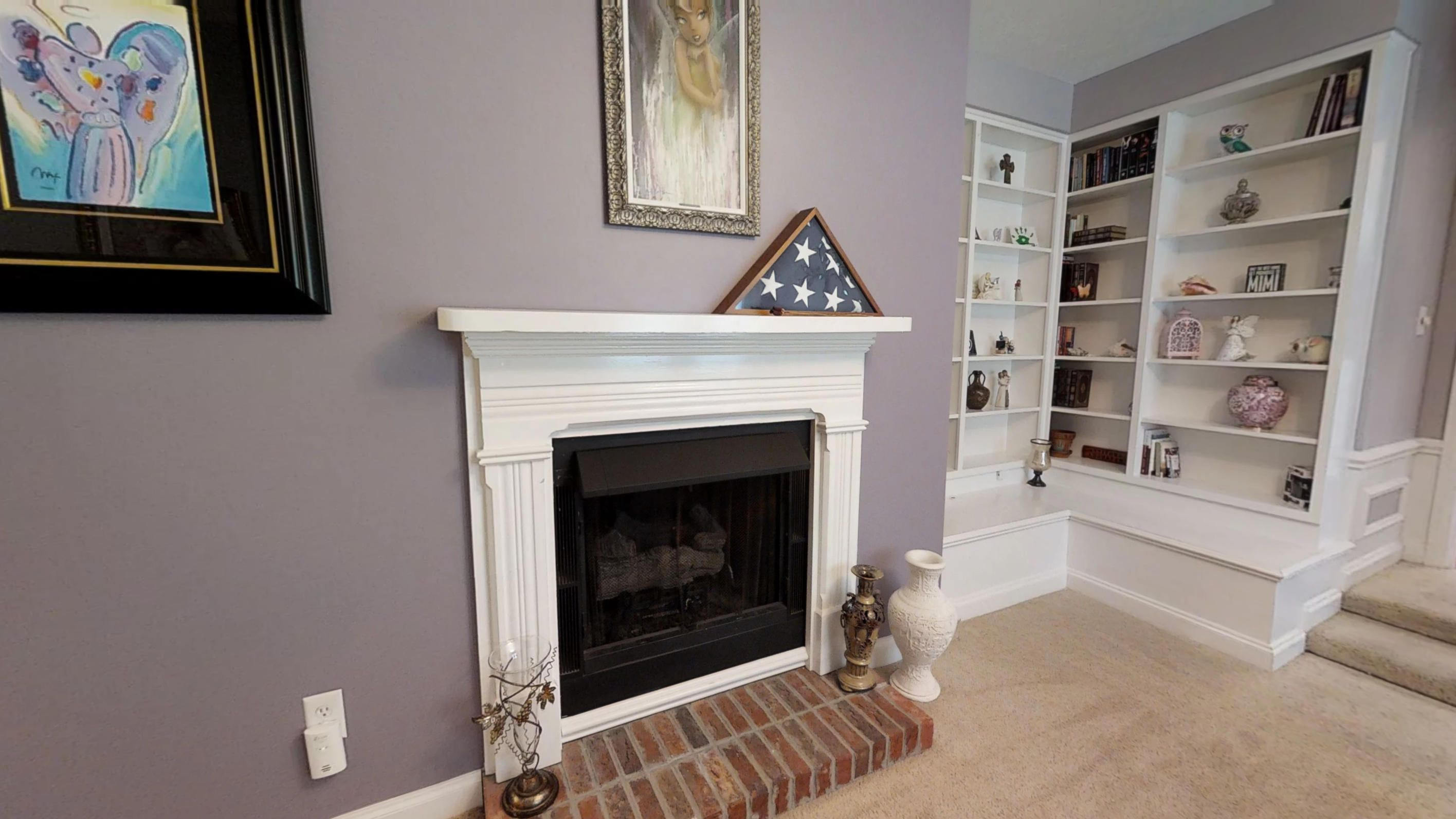 MBR Sitting Area Fireplace