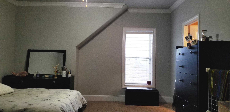 bedroom has 2 walk in closets