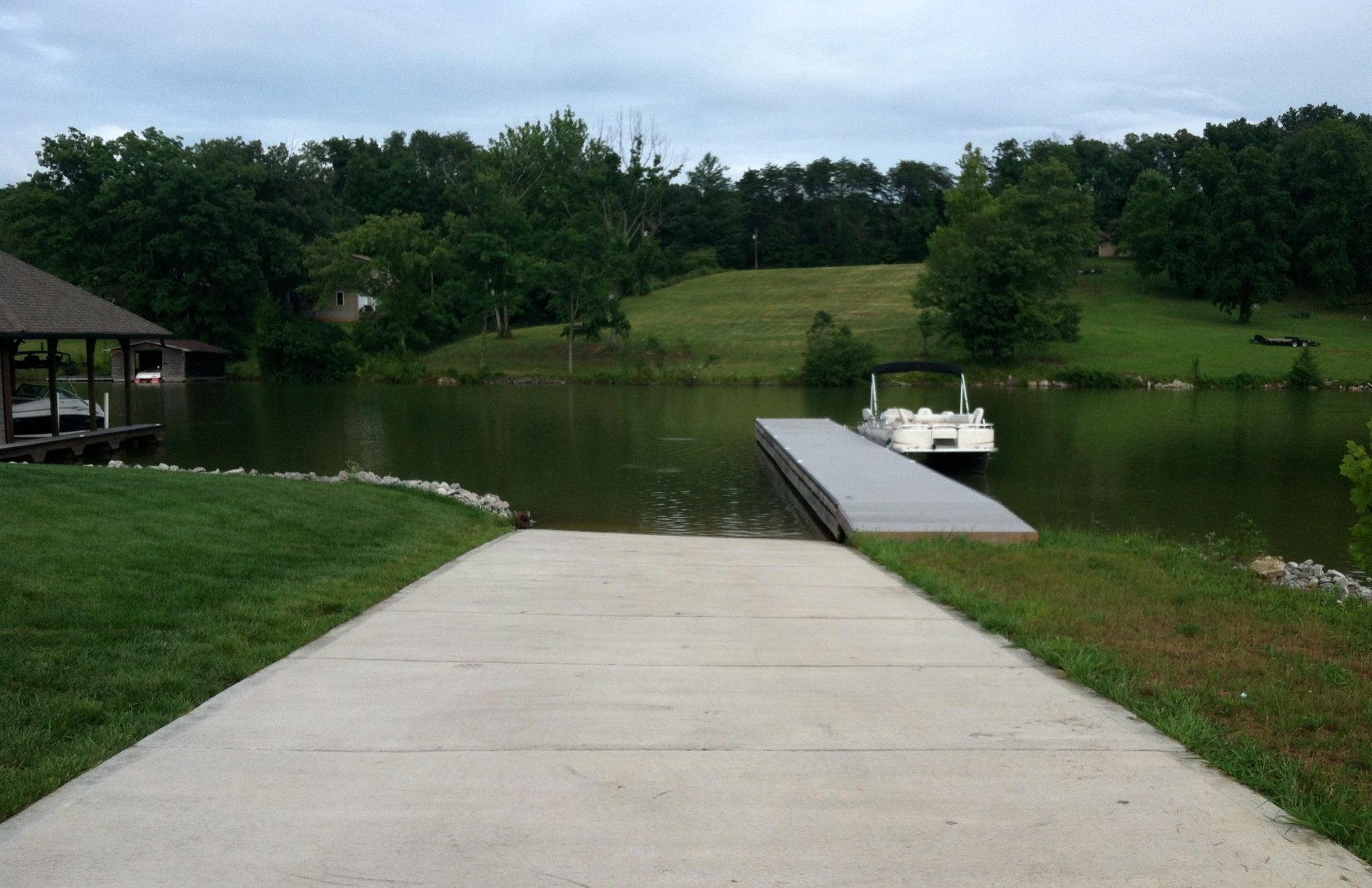 Neighborhood boat ramp and pier