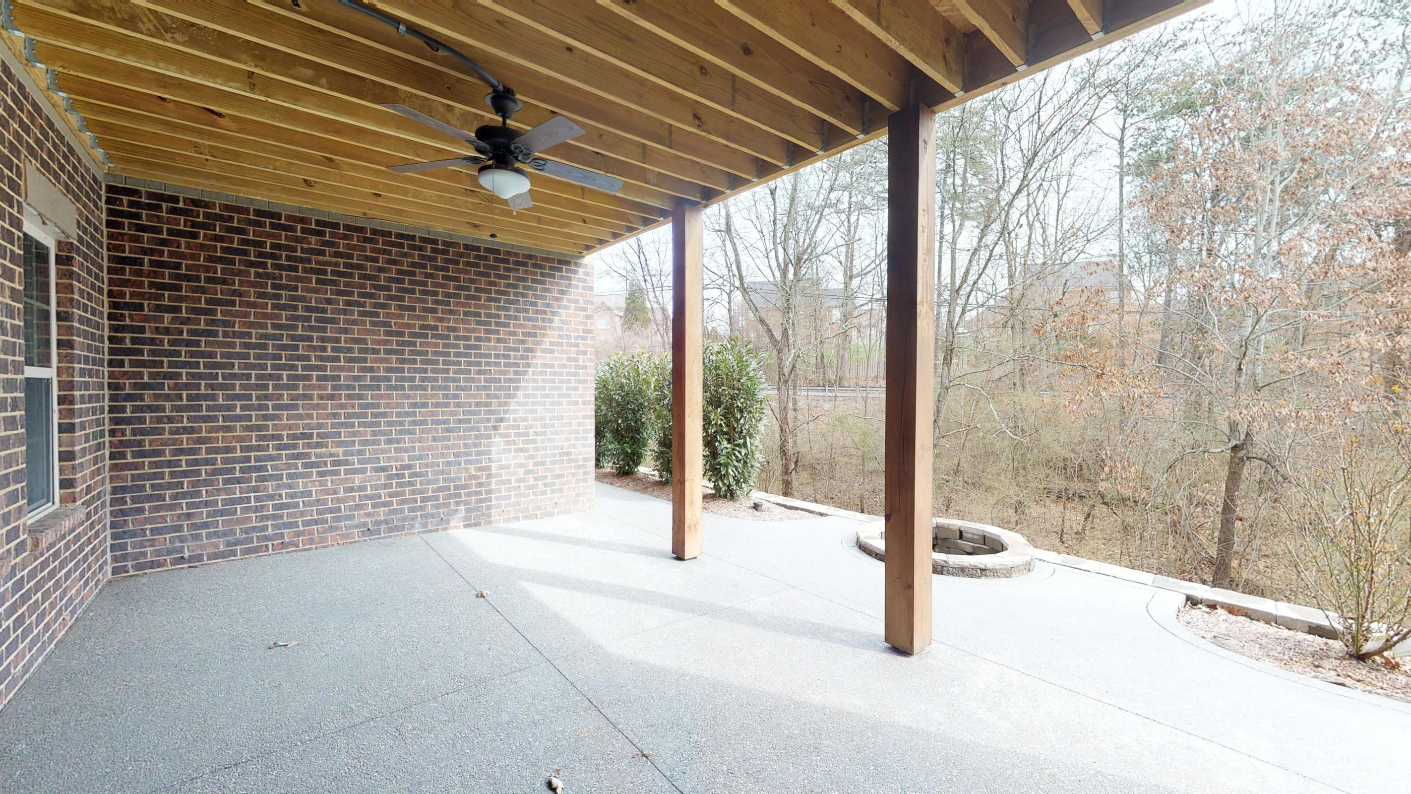 Basement Level Covered Patio
