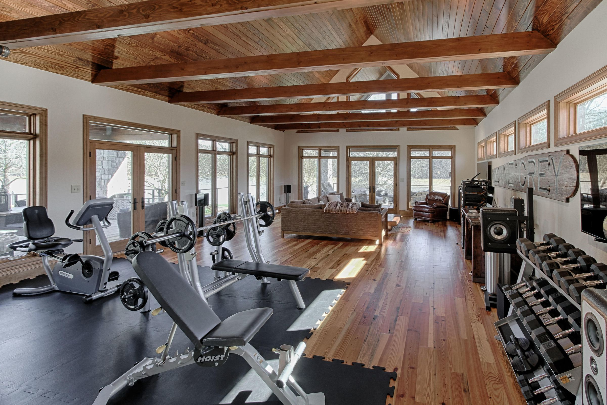 exercise room area