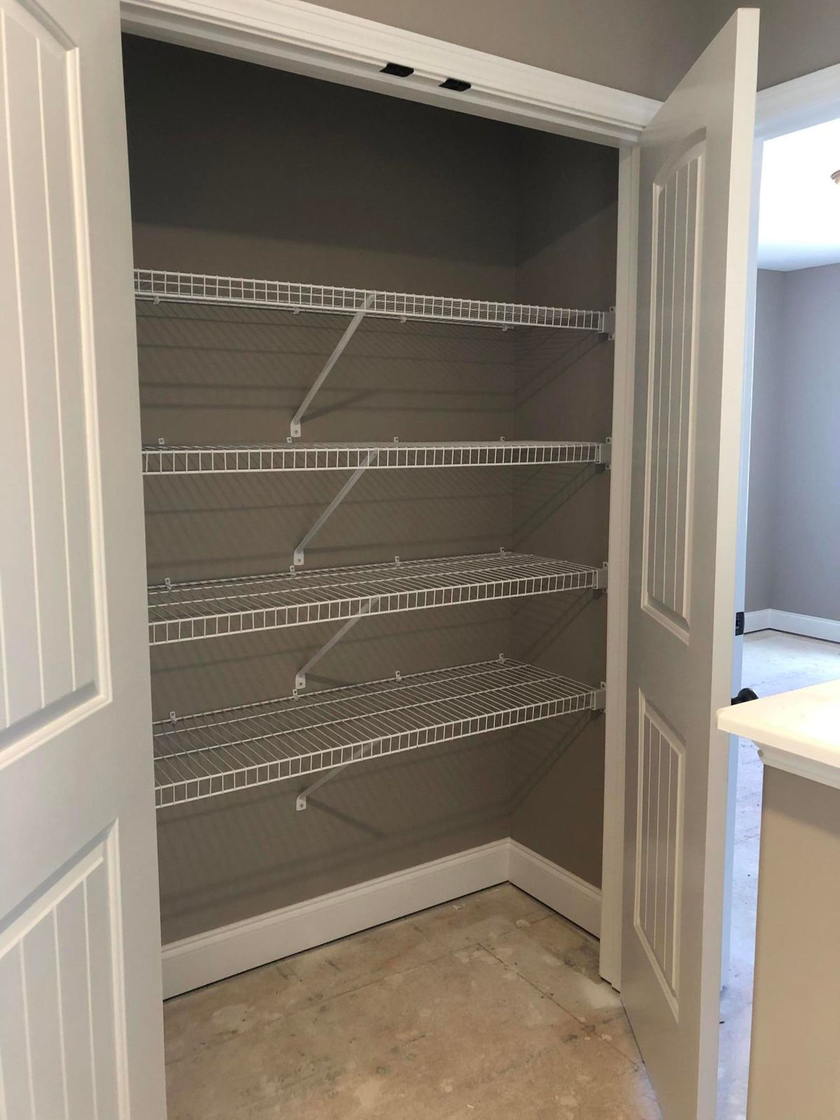 Upstairs closet for storage