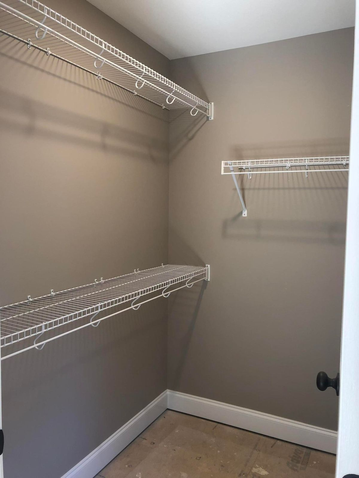 Large walk in master closet