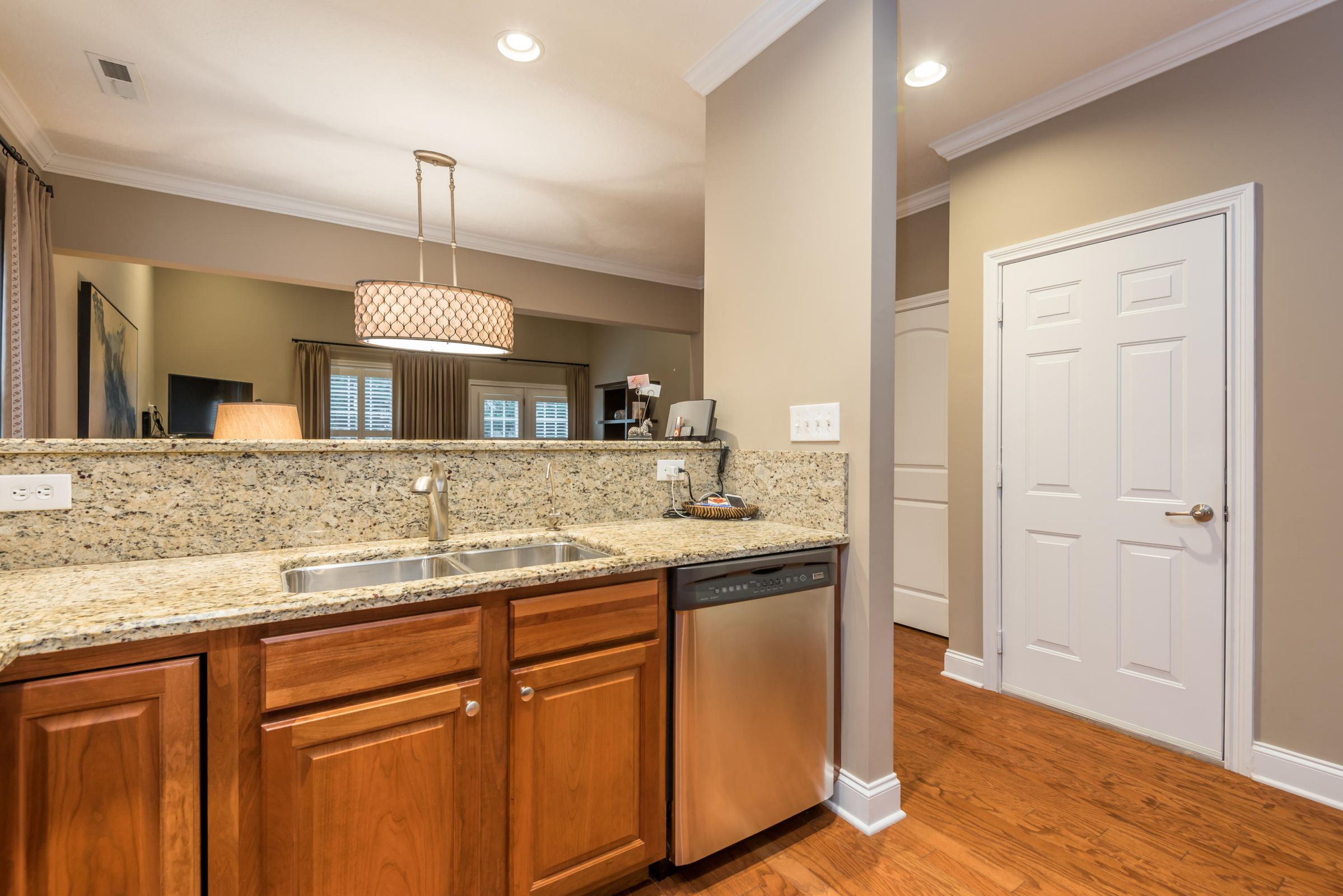 14 kitchen sink to living room