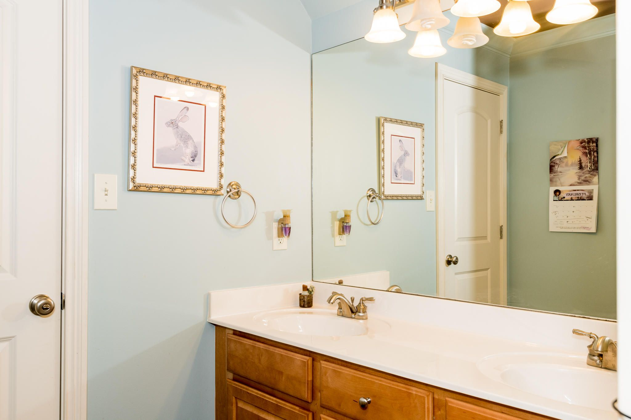 Jack and Jill bathroom shared with bedro