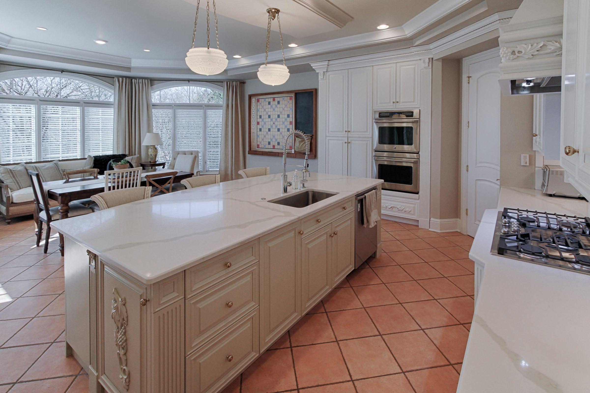 kitchen to keeping rm