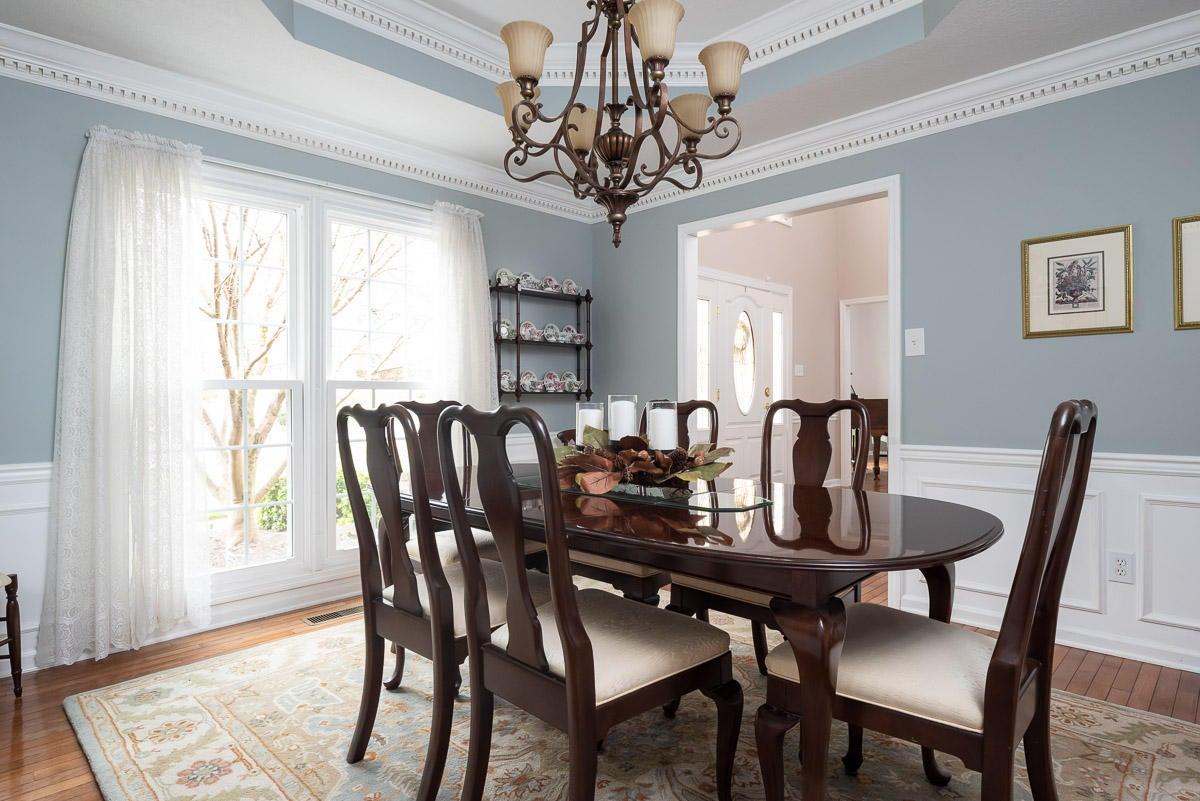 Formal Dining, trey ceiling