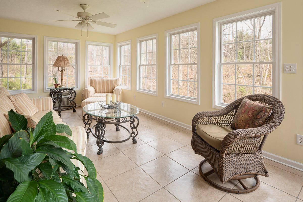 Relaxing views of nature in Sunroom