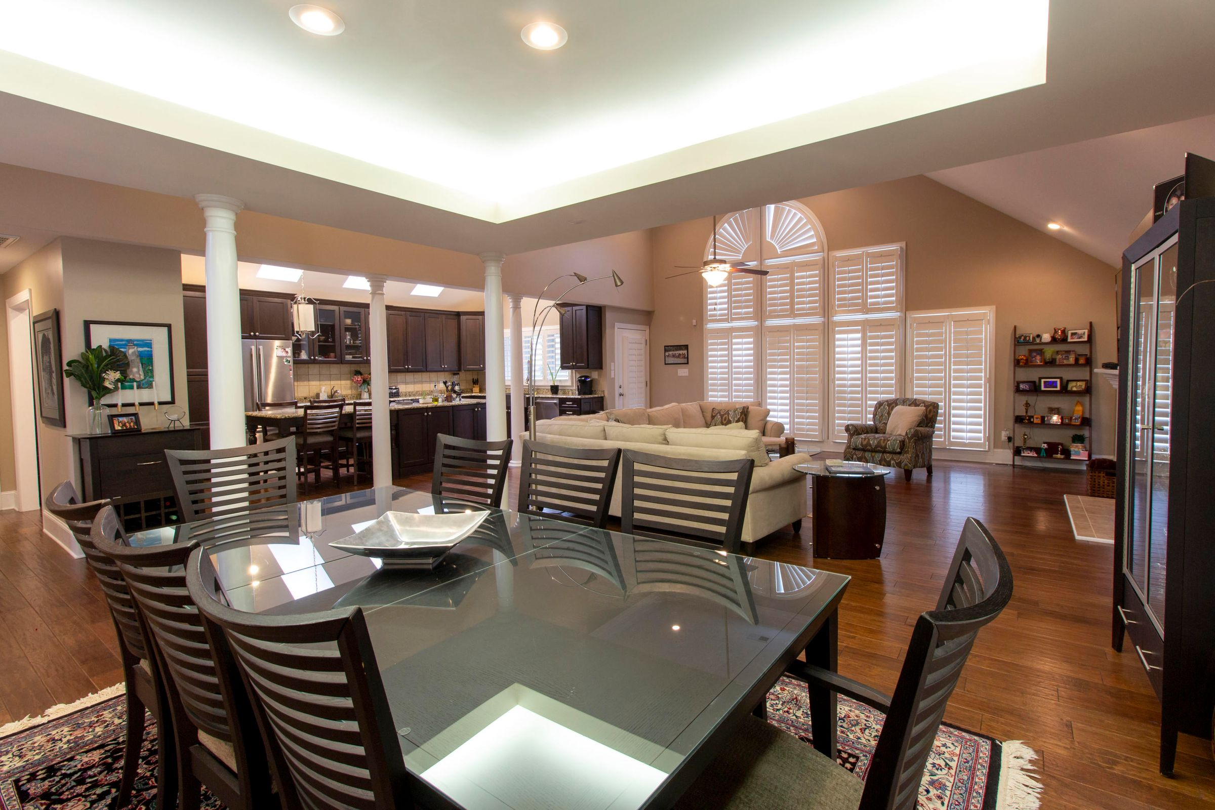 Living, Dining all open to Kitchen