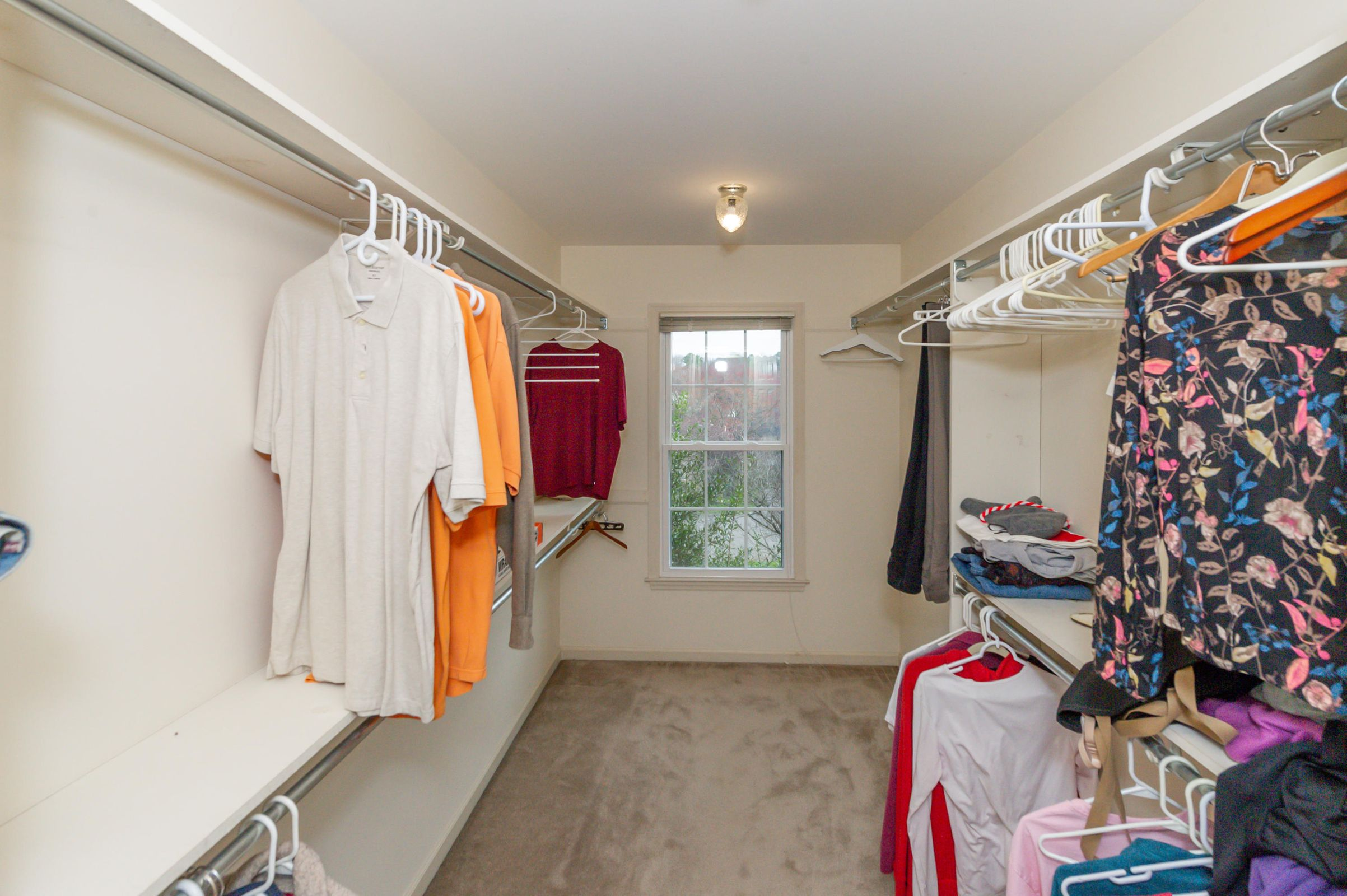 Large walk in closet in Master Bedroom
