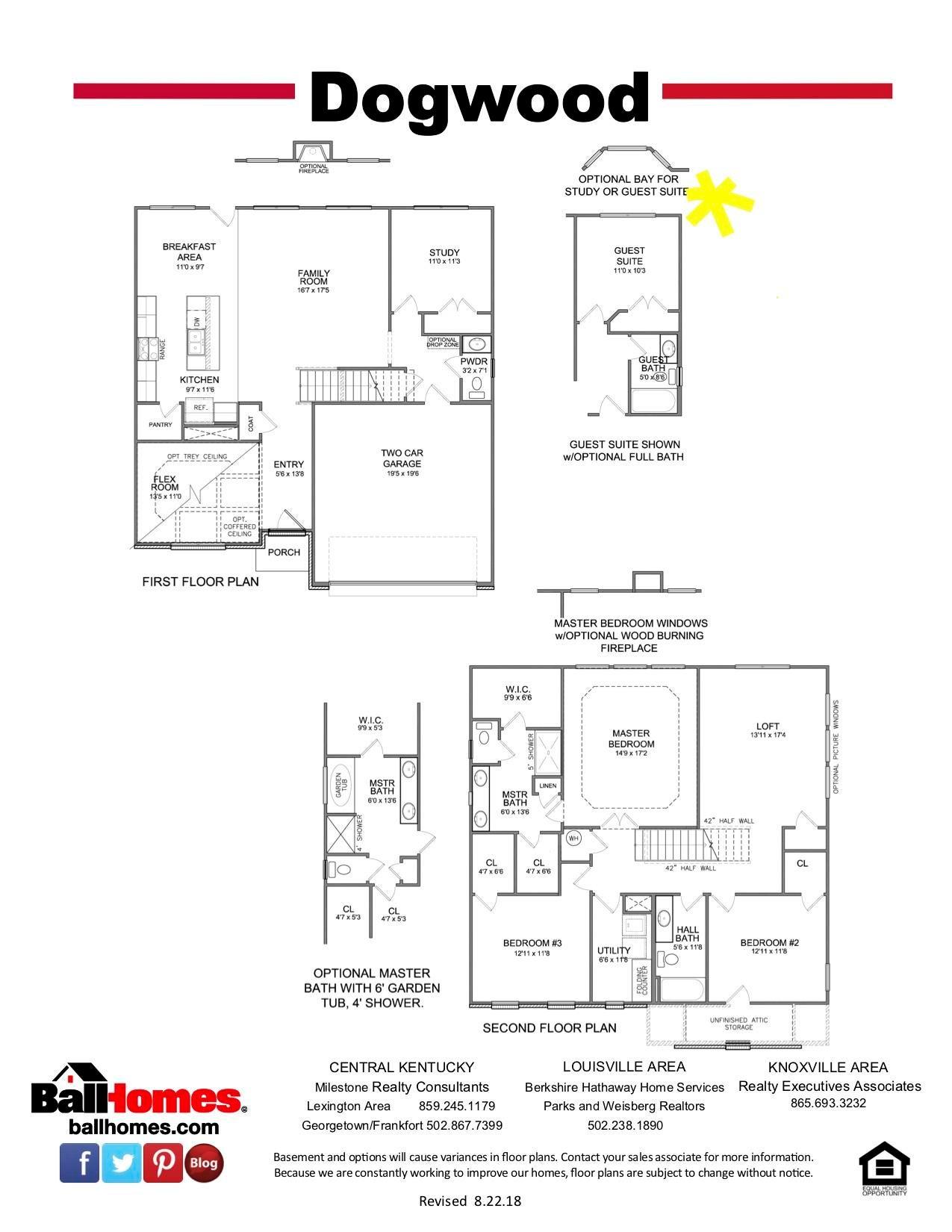 Dogwood Floor Plan Brochure