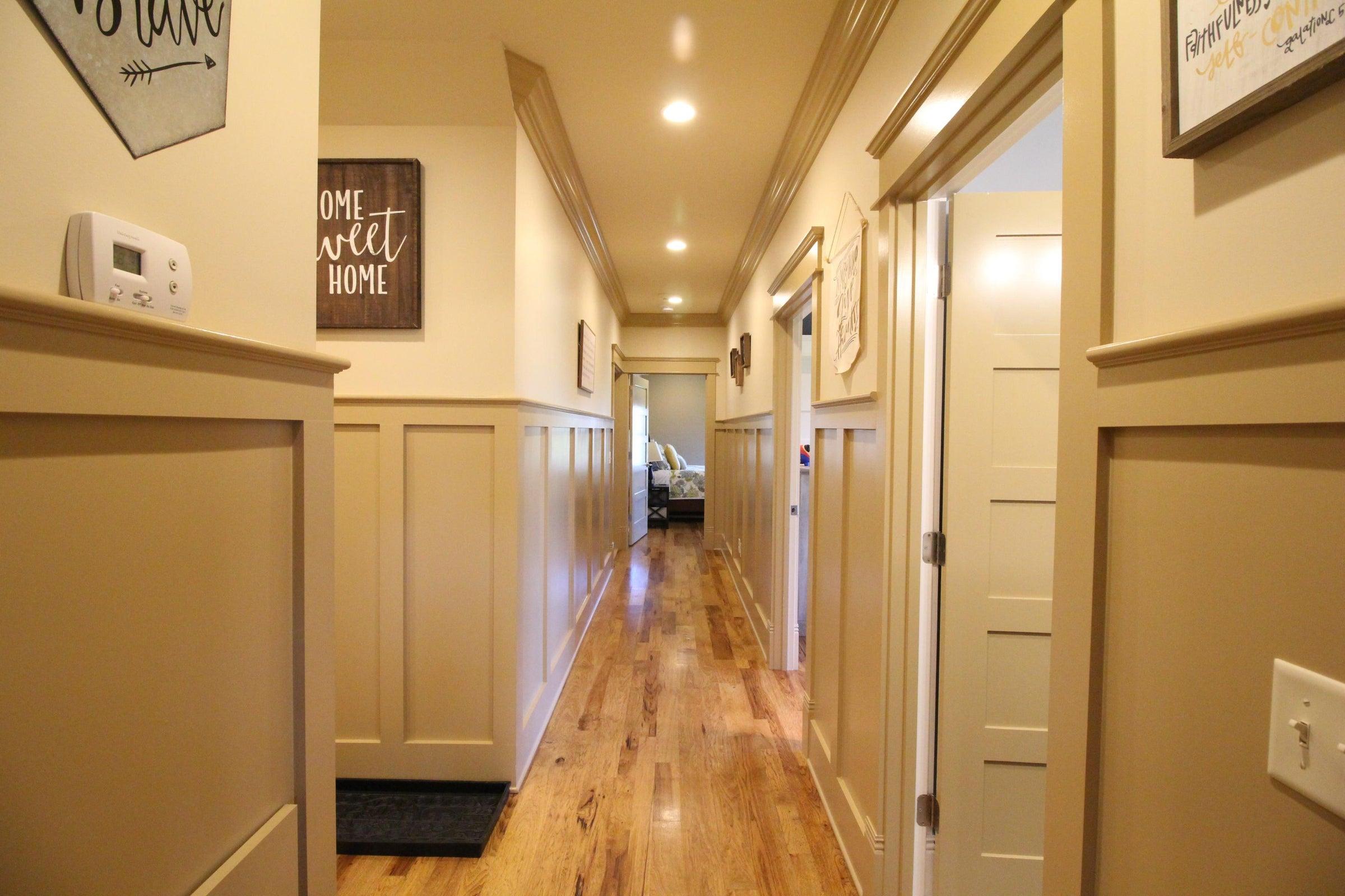 Even the hallway is elegant!