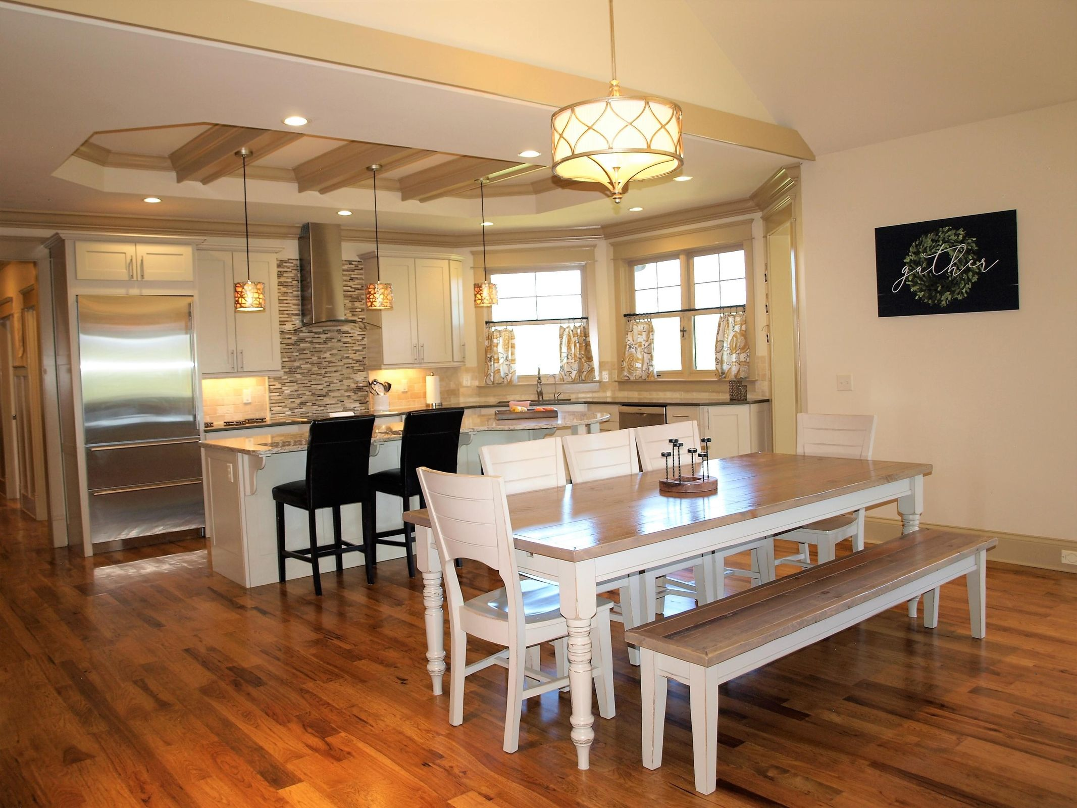 Kitchen and Dining all open concept