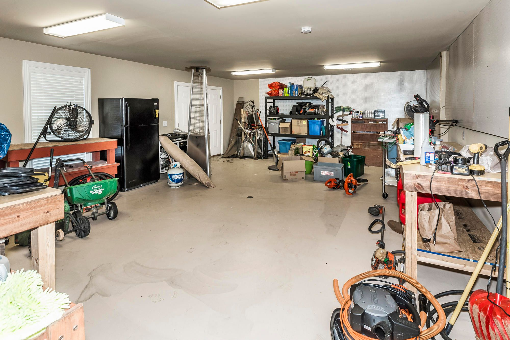Finished workshop in basement