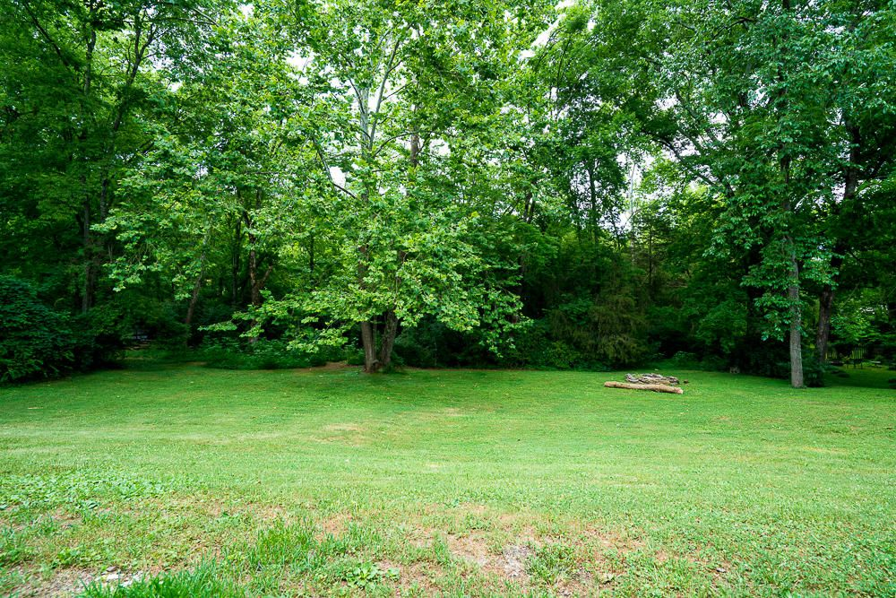 Large Private Back Lawn