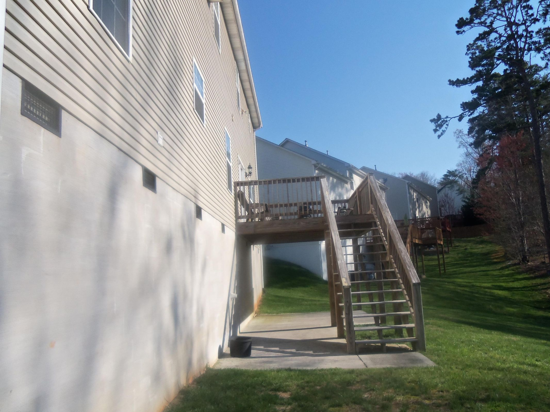 Deck w/Patio Underneath