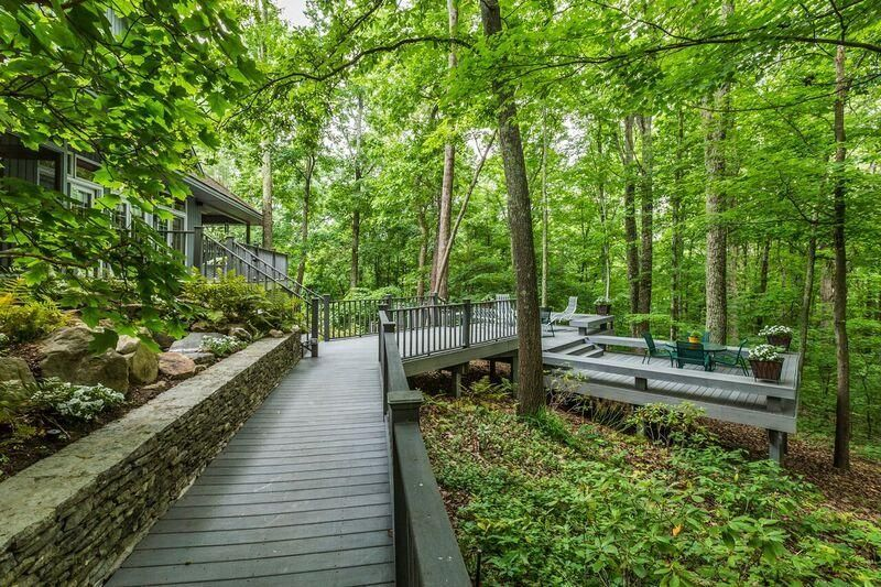 wooded deck area
