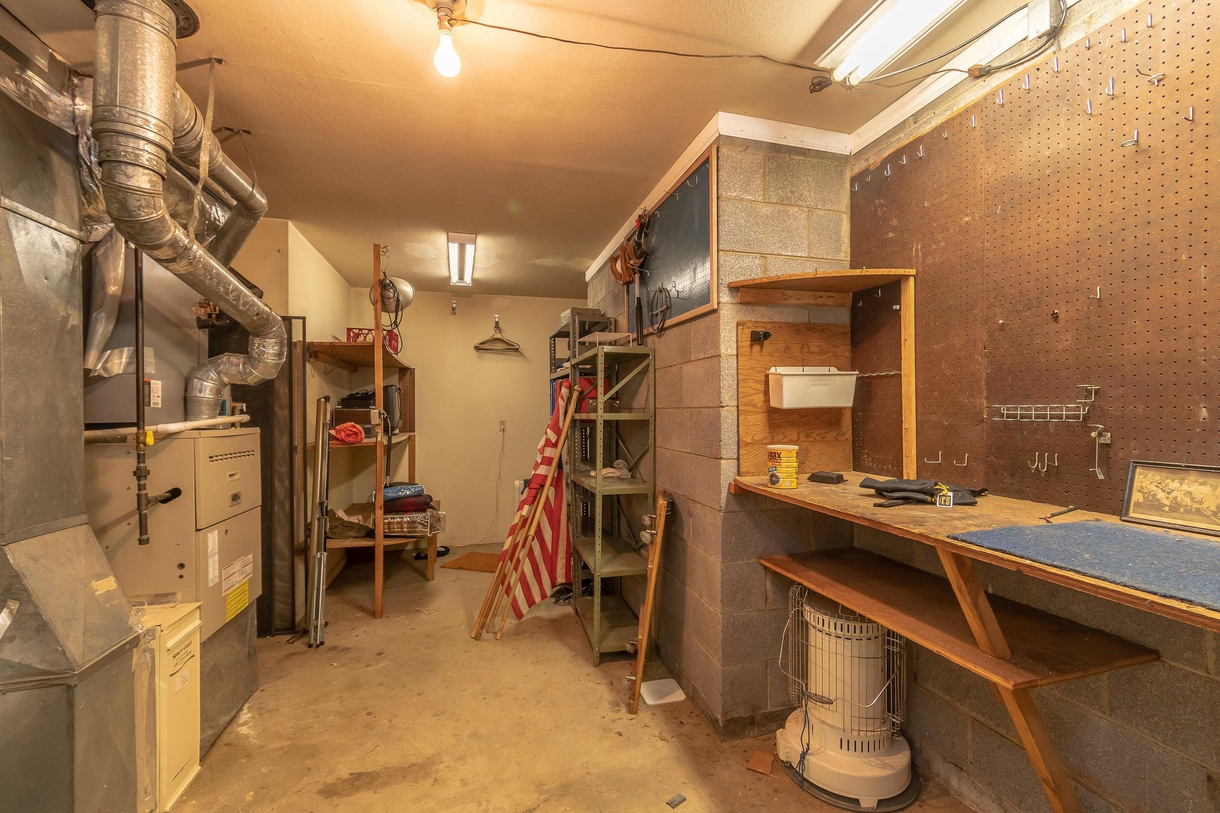 Basement Workshop-Storage