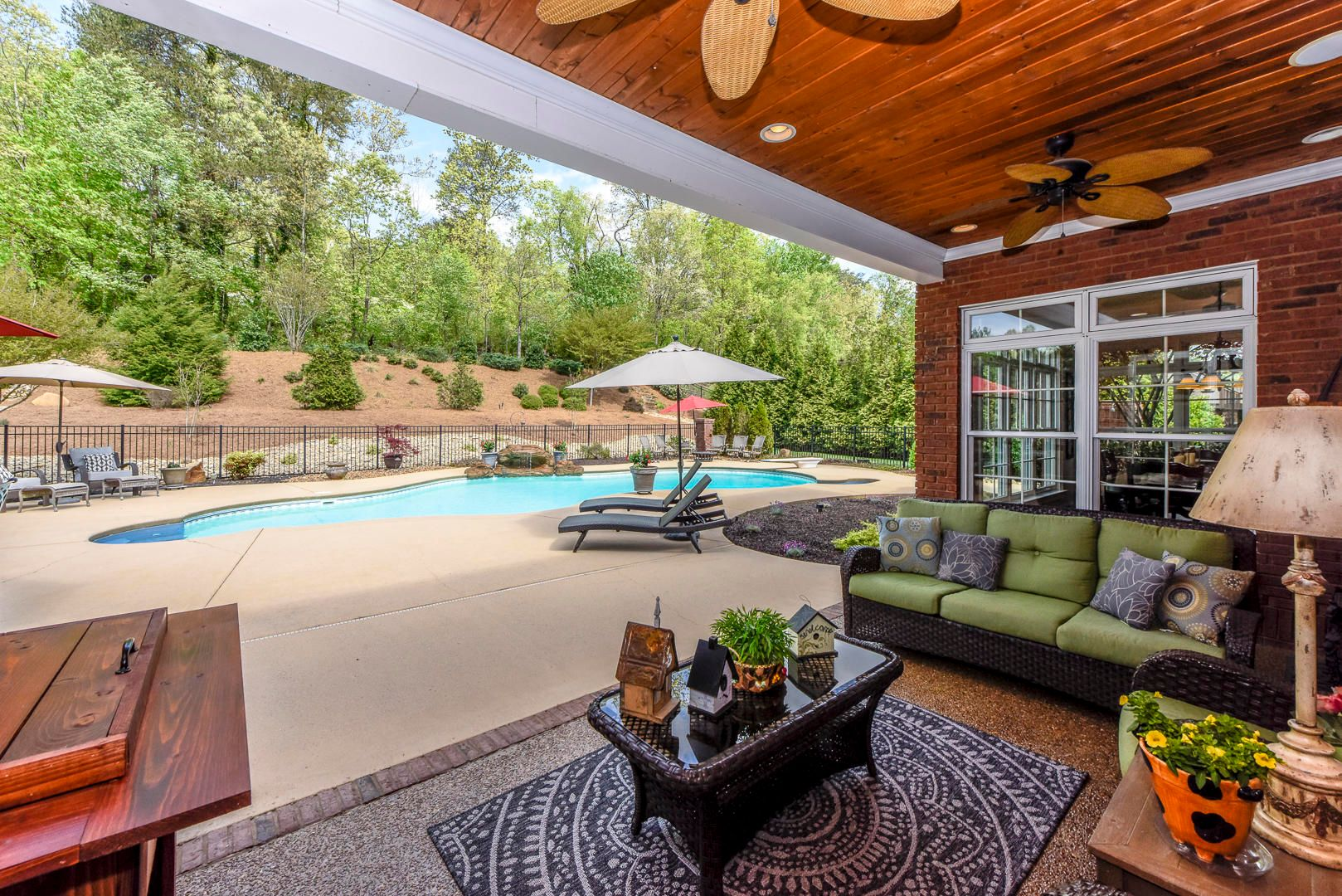 Covered porch and Pool