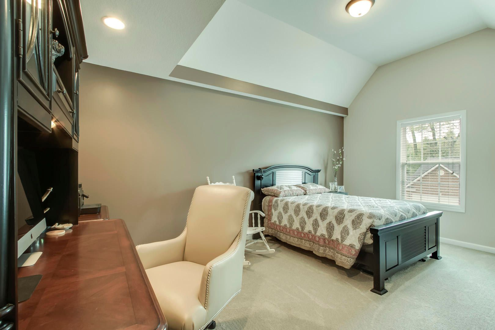 Bedroom 3 w/ vaulted ceiling
