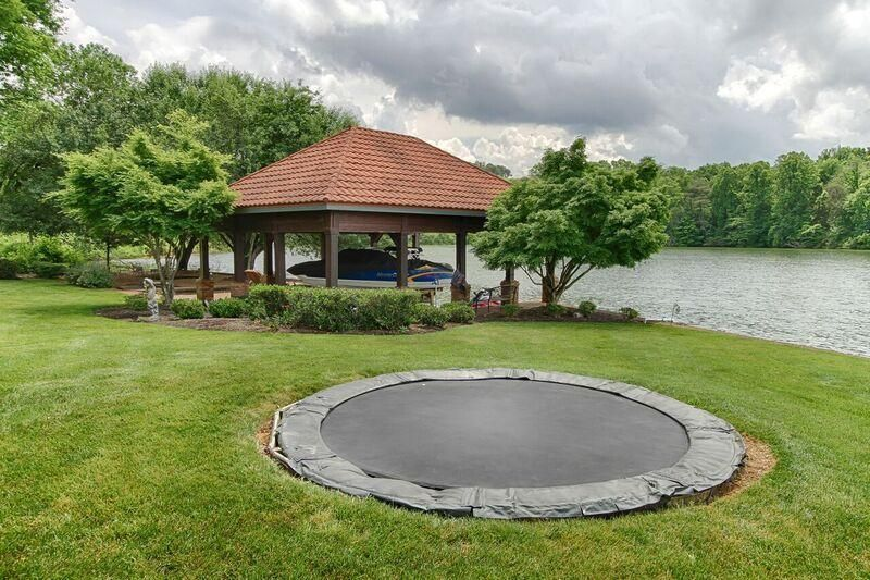 dock and inground trampoline