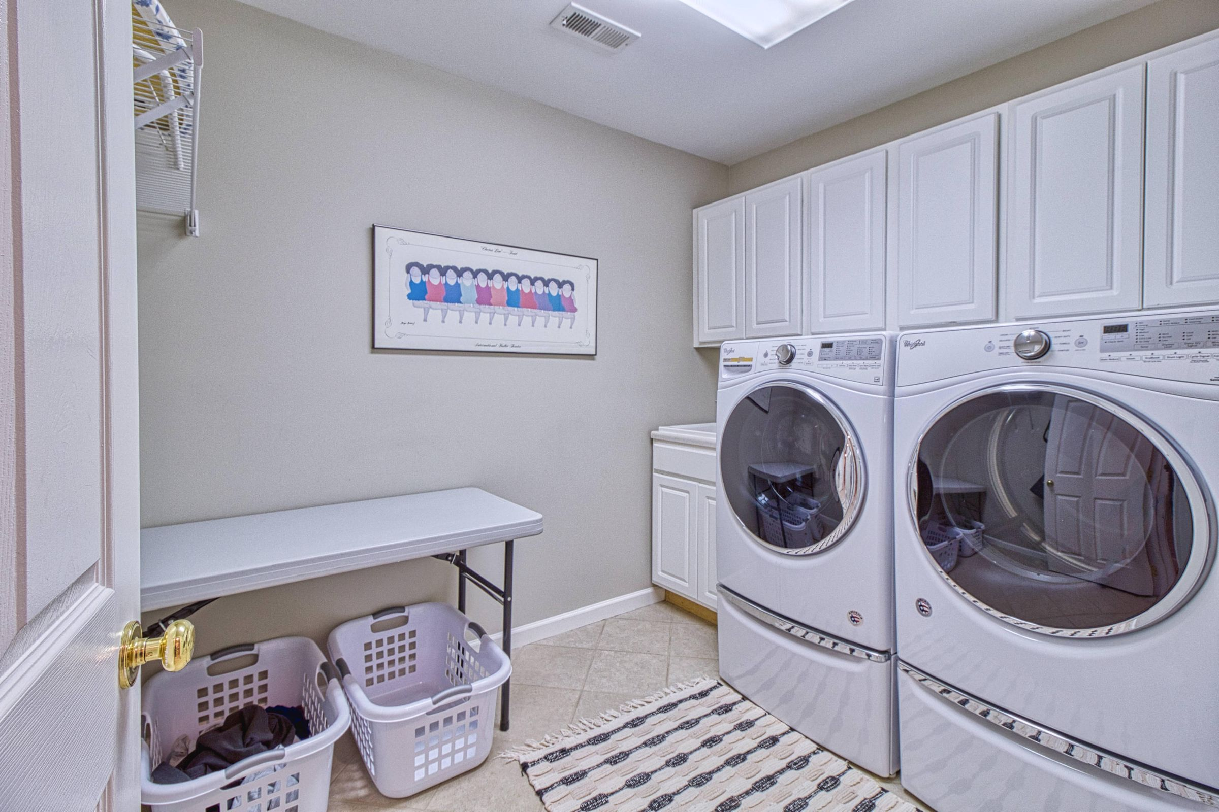 LAUNDRY ON MASTER FLOOR