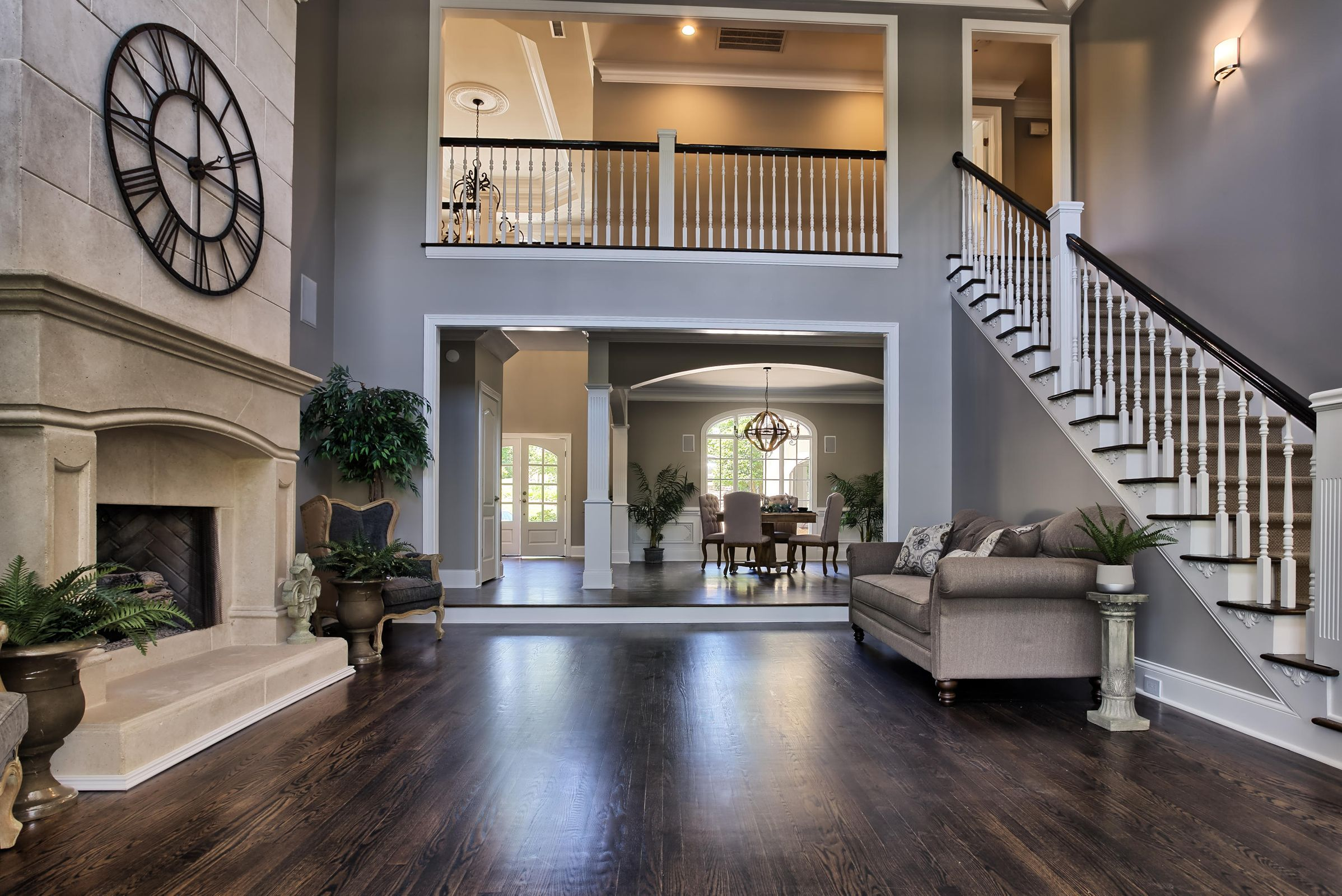 Living with soaring coffered ceilings