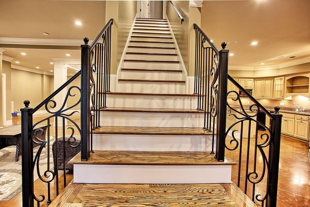 Grand stairway to basement