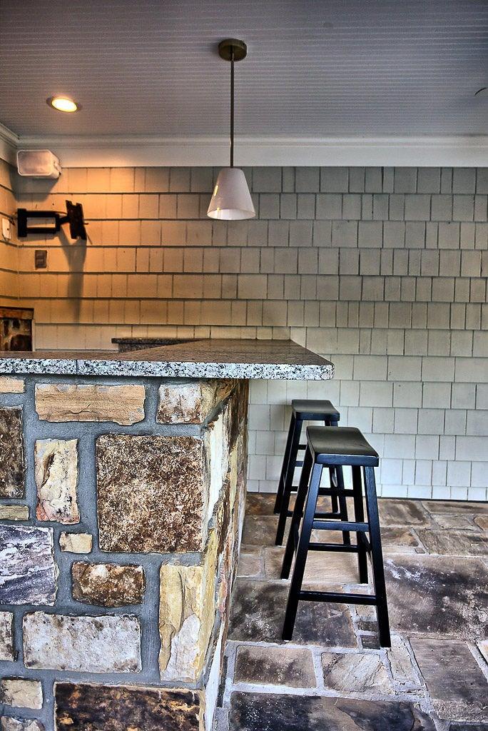 Granite top, fridge & sink