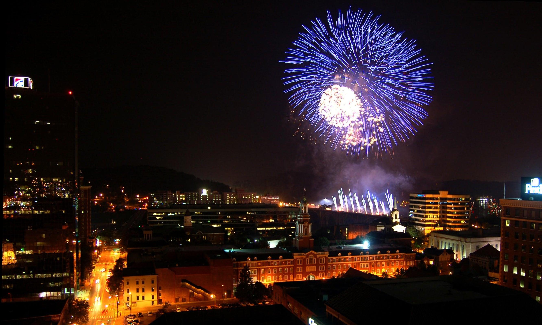 downtown firework