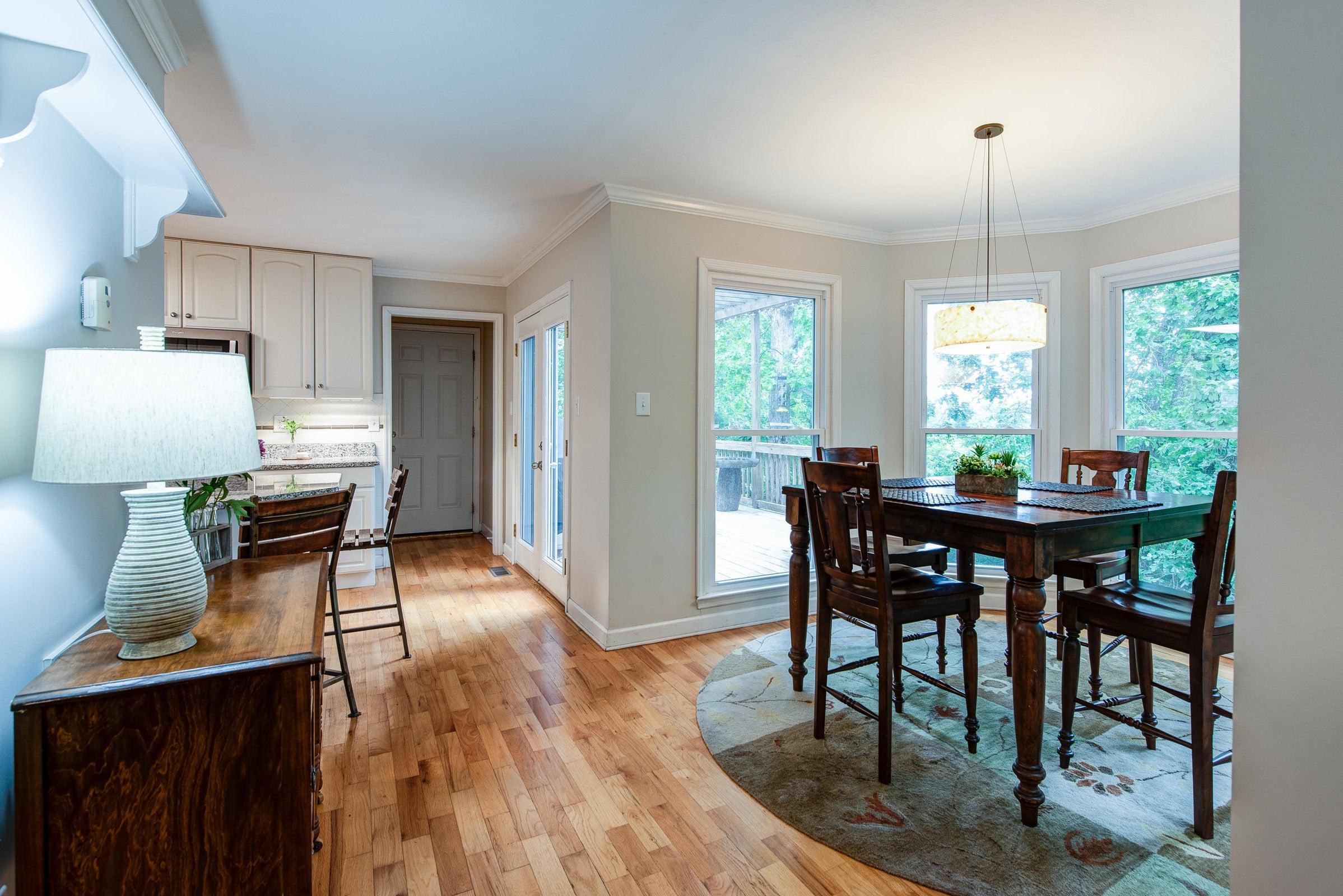 main floor - breakfast nook and kitchen