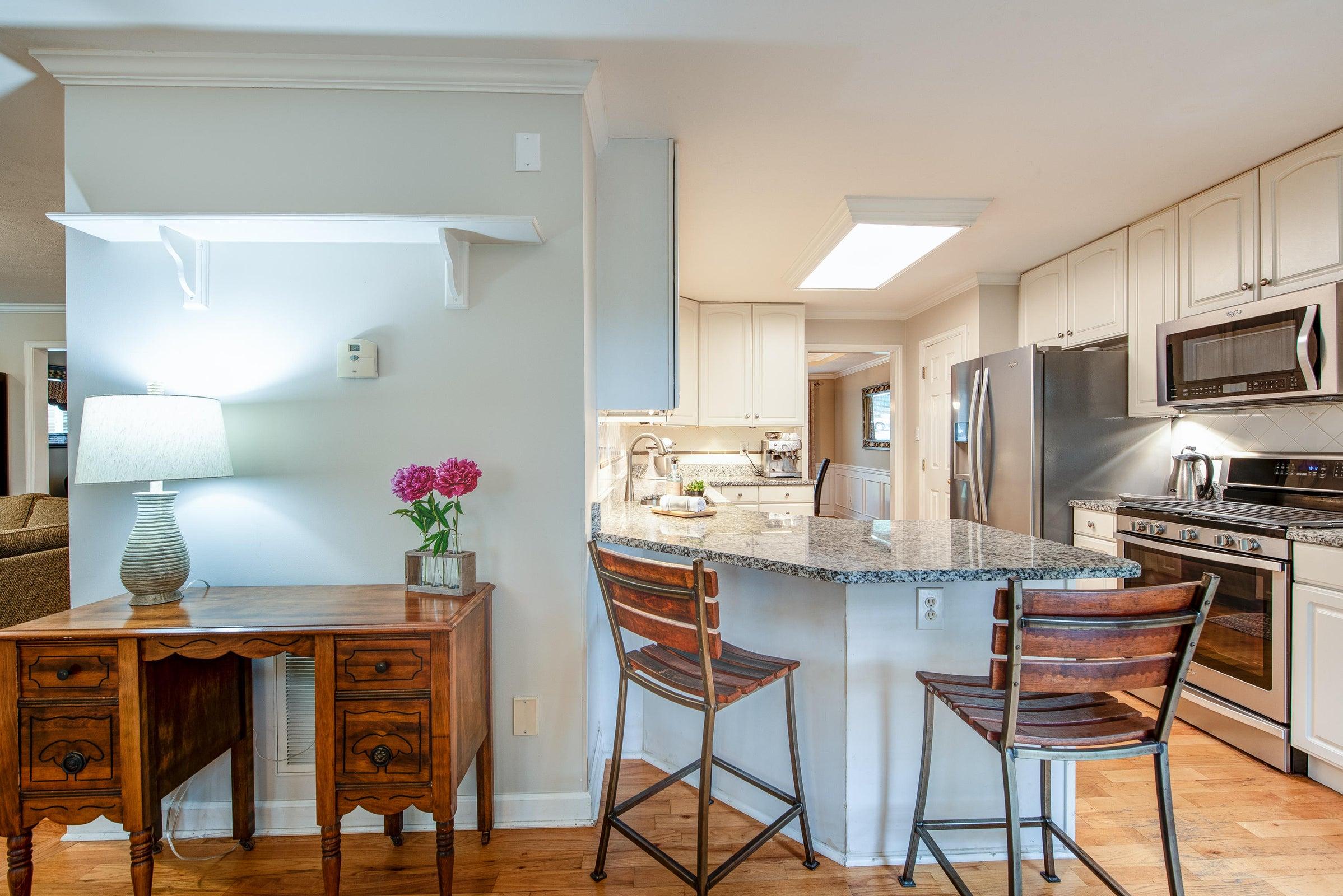 main floor - kitchen looking north