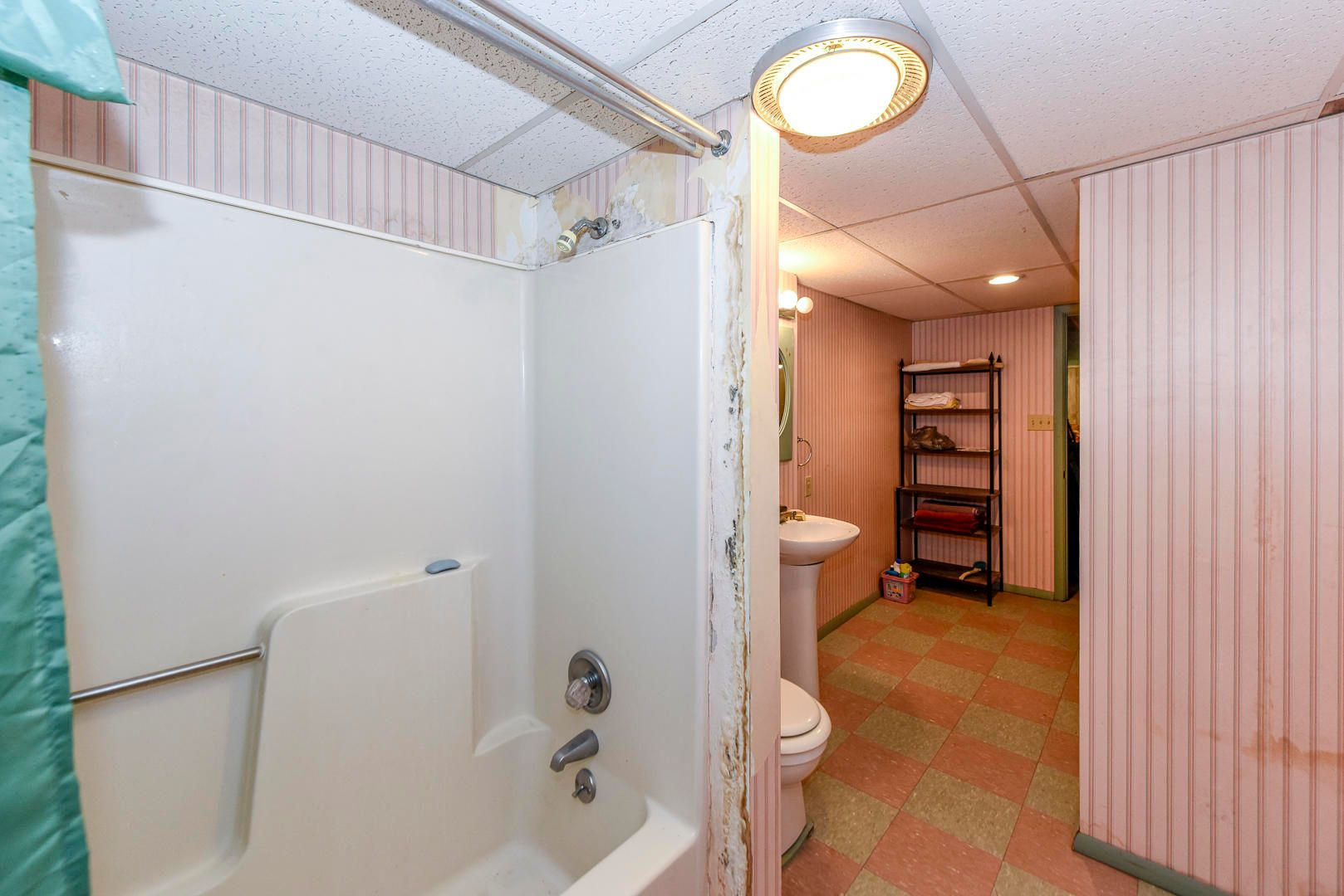 Tub/shower downstairs