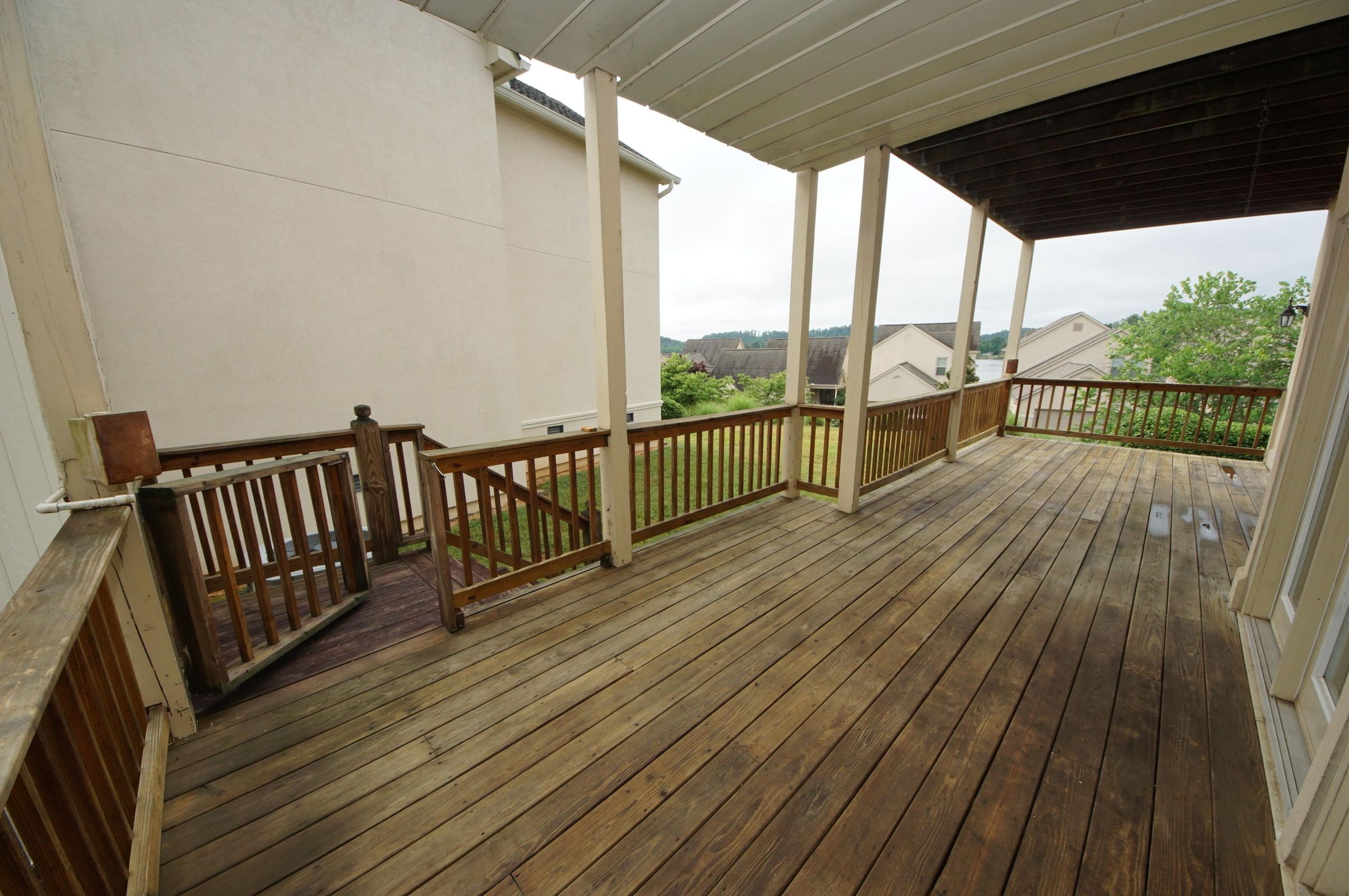 Partially Covered Main Level Deck