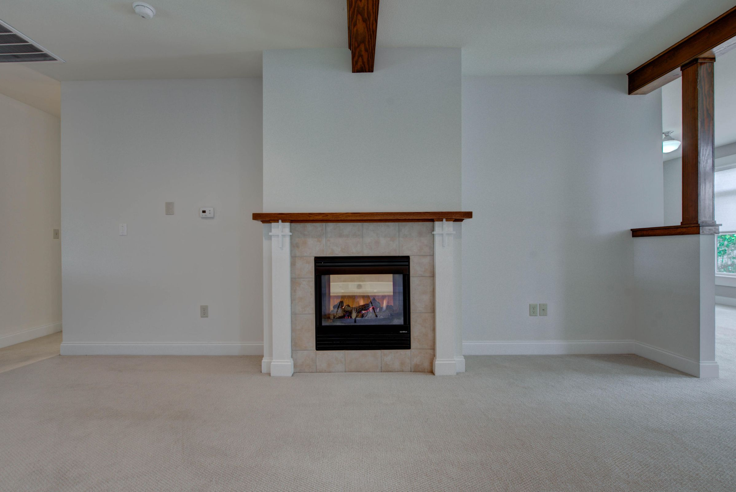 Gas logs shared with Master Bath