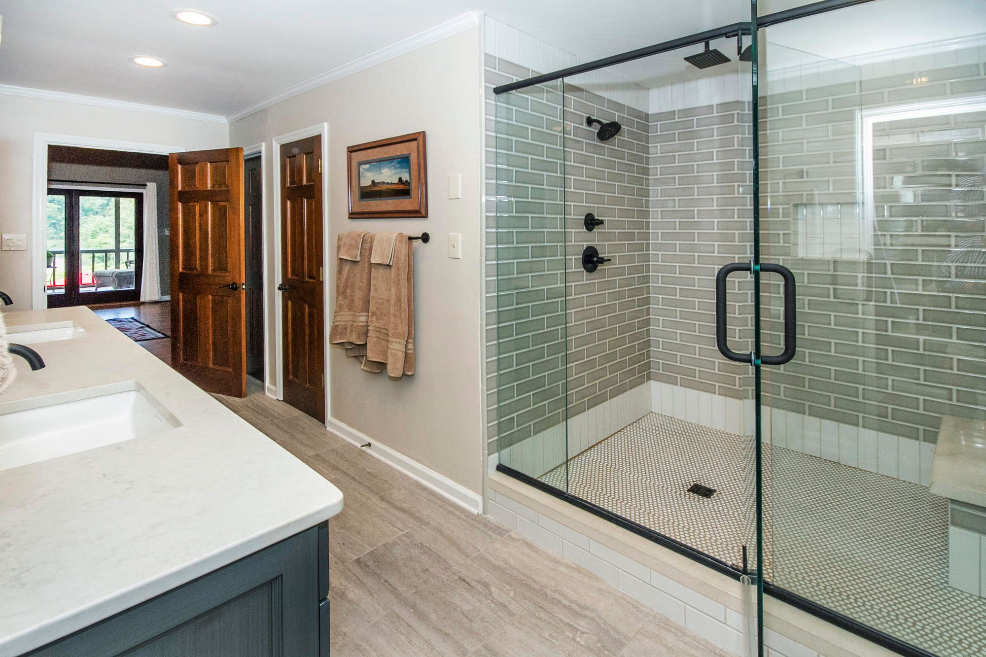 Beautiful large tile shower