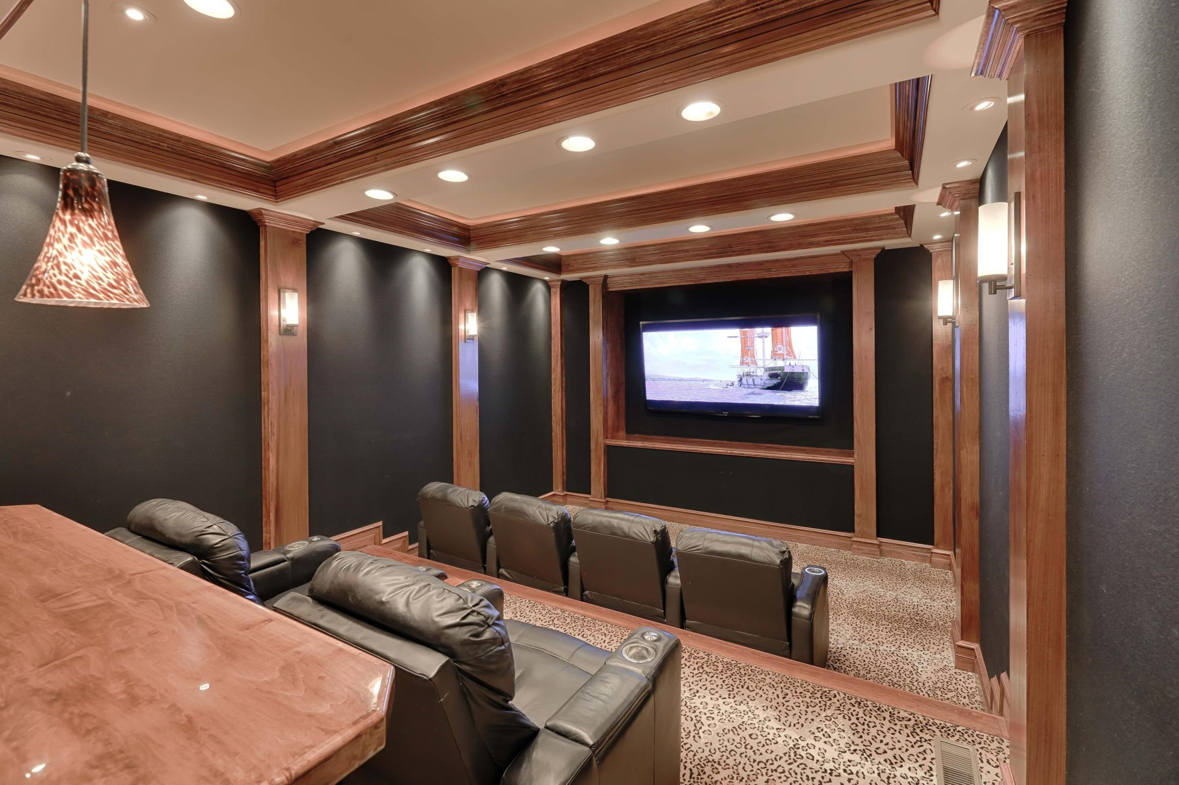 main level theater room
