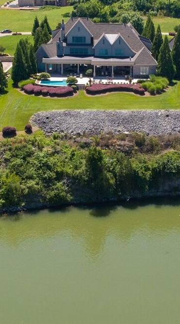 aerial of back of home