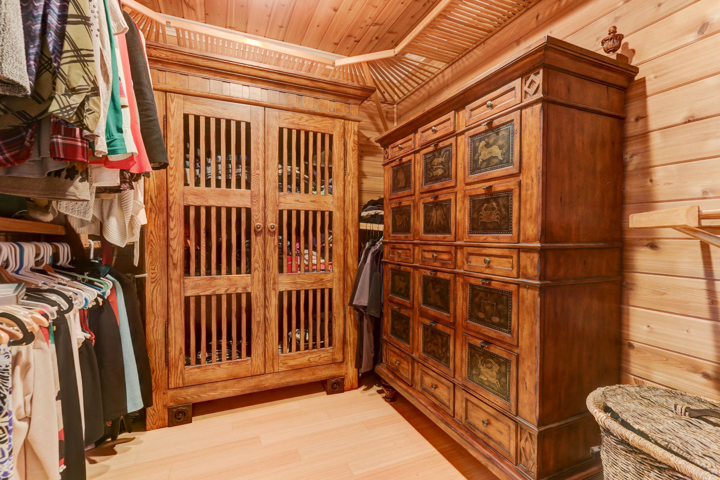 Upstairs master closet