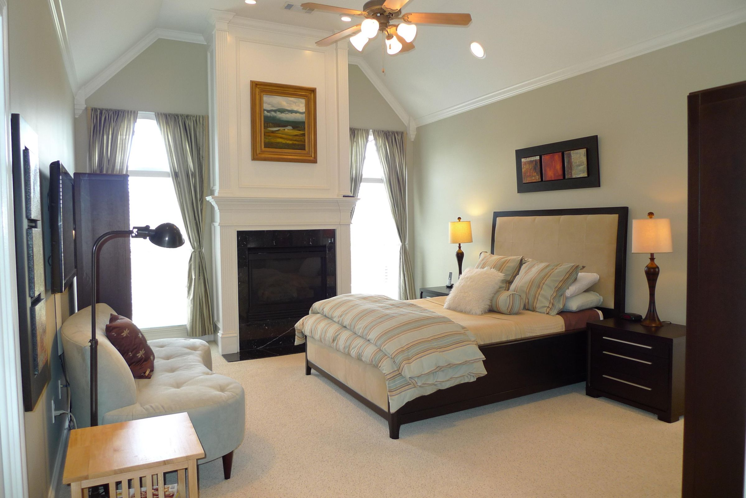 Master Bedroom - Gas Log Fireplace