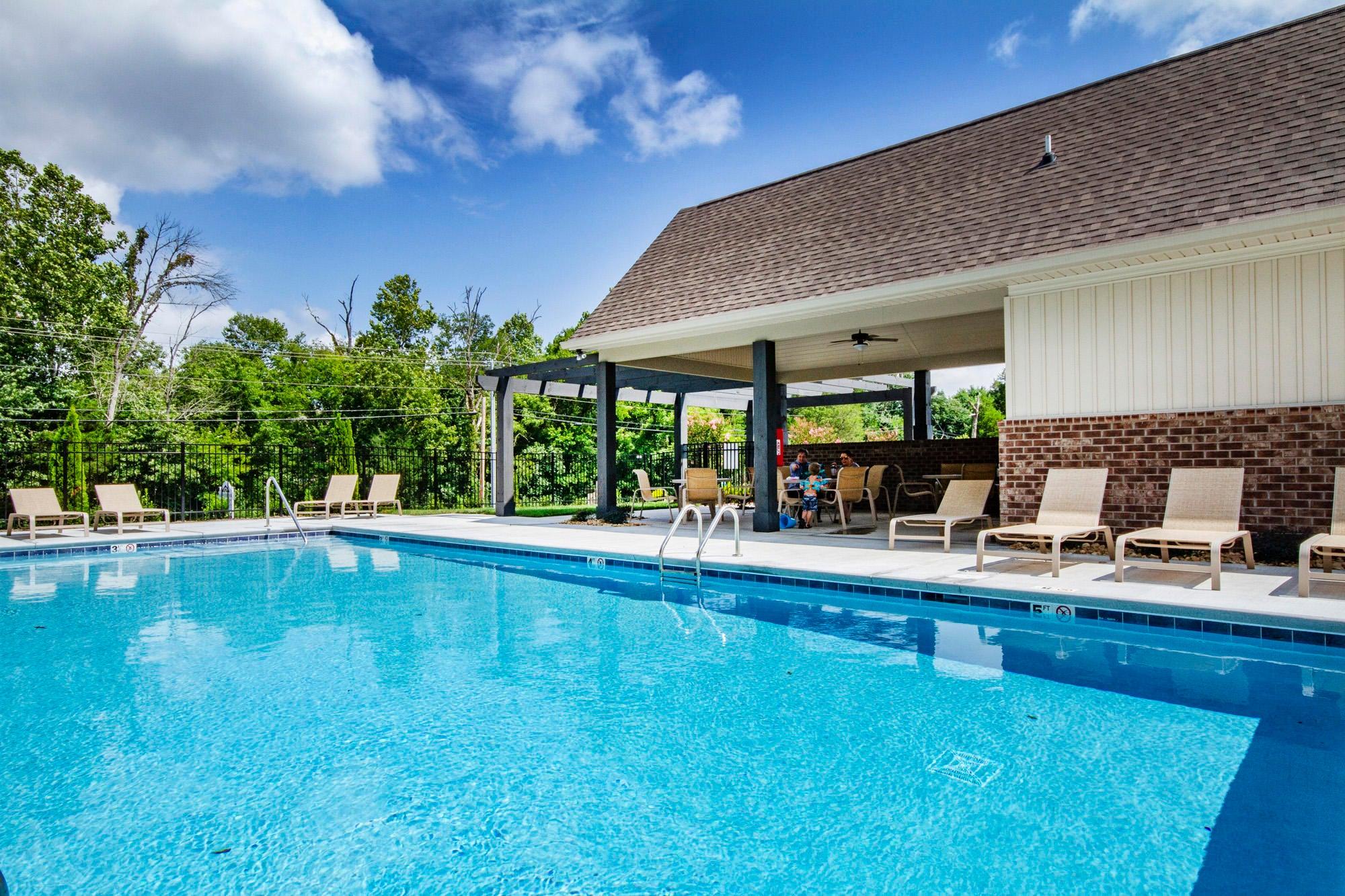 Pool ad paviliion