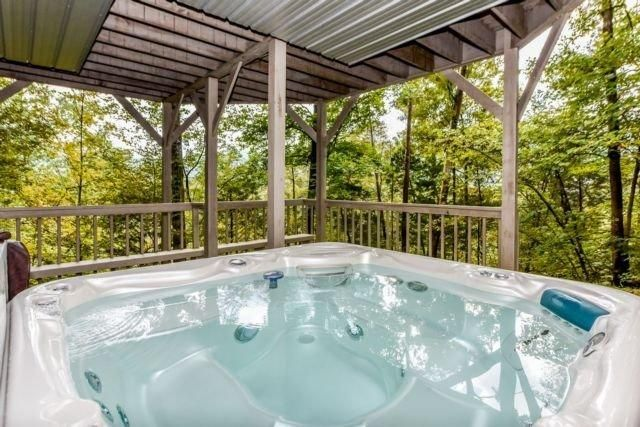 Lodge Over sized hot tub