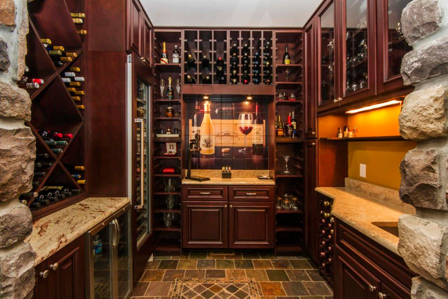Wine Room with Wet Bar