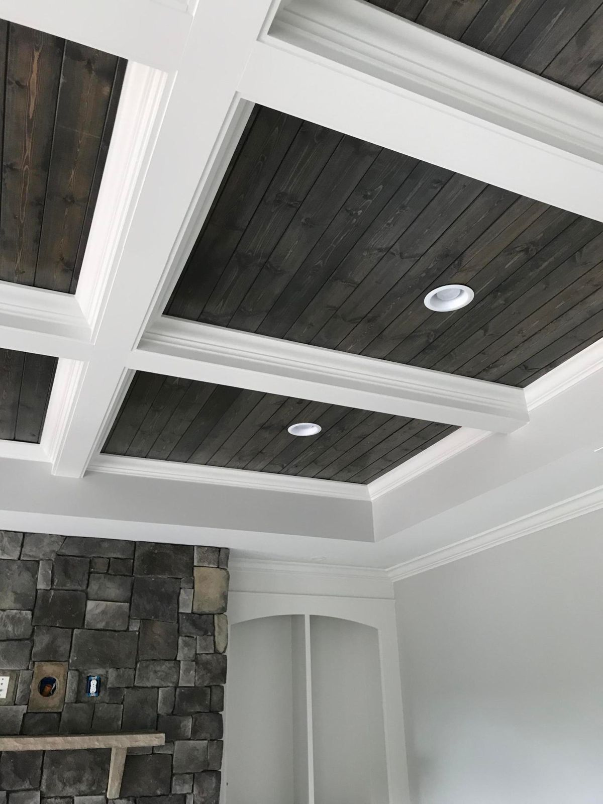 Great Room - Coffered ceiling