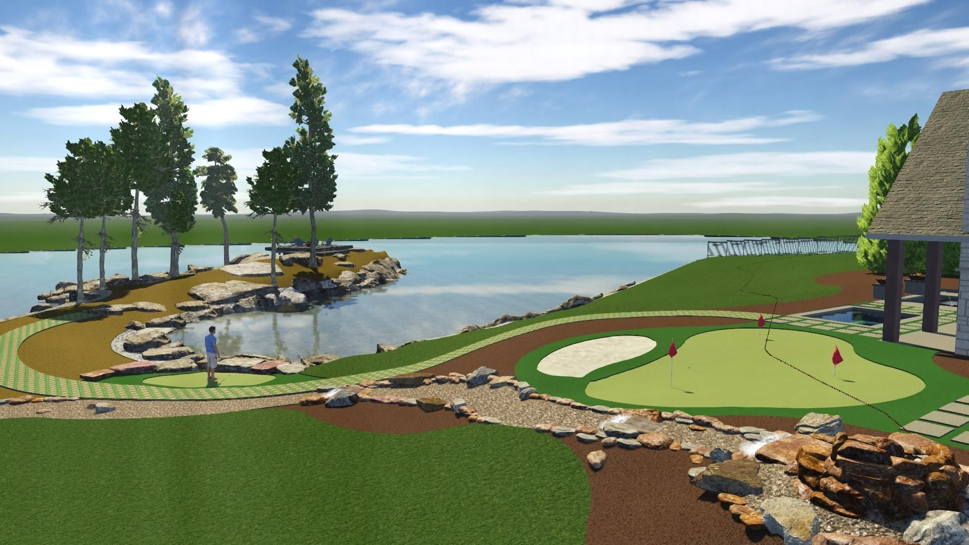 LAKE VIEW AND PUTTING GREEN