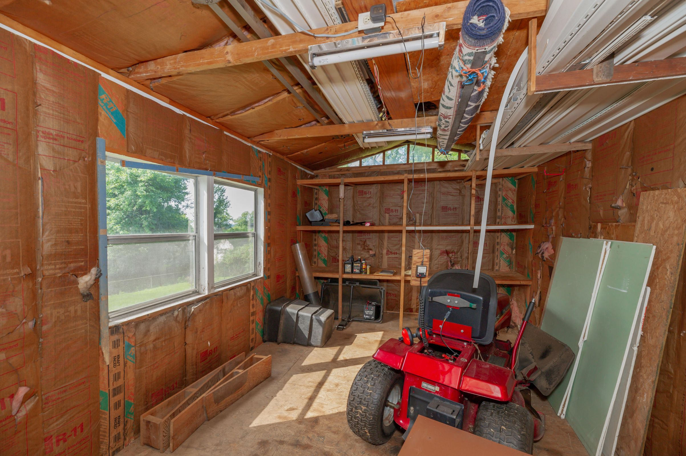 Storage Shed in Back Yard