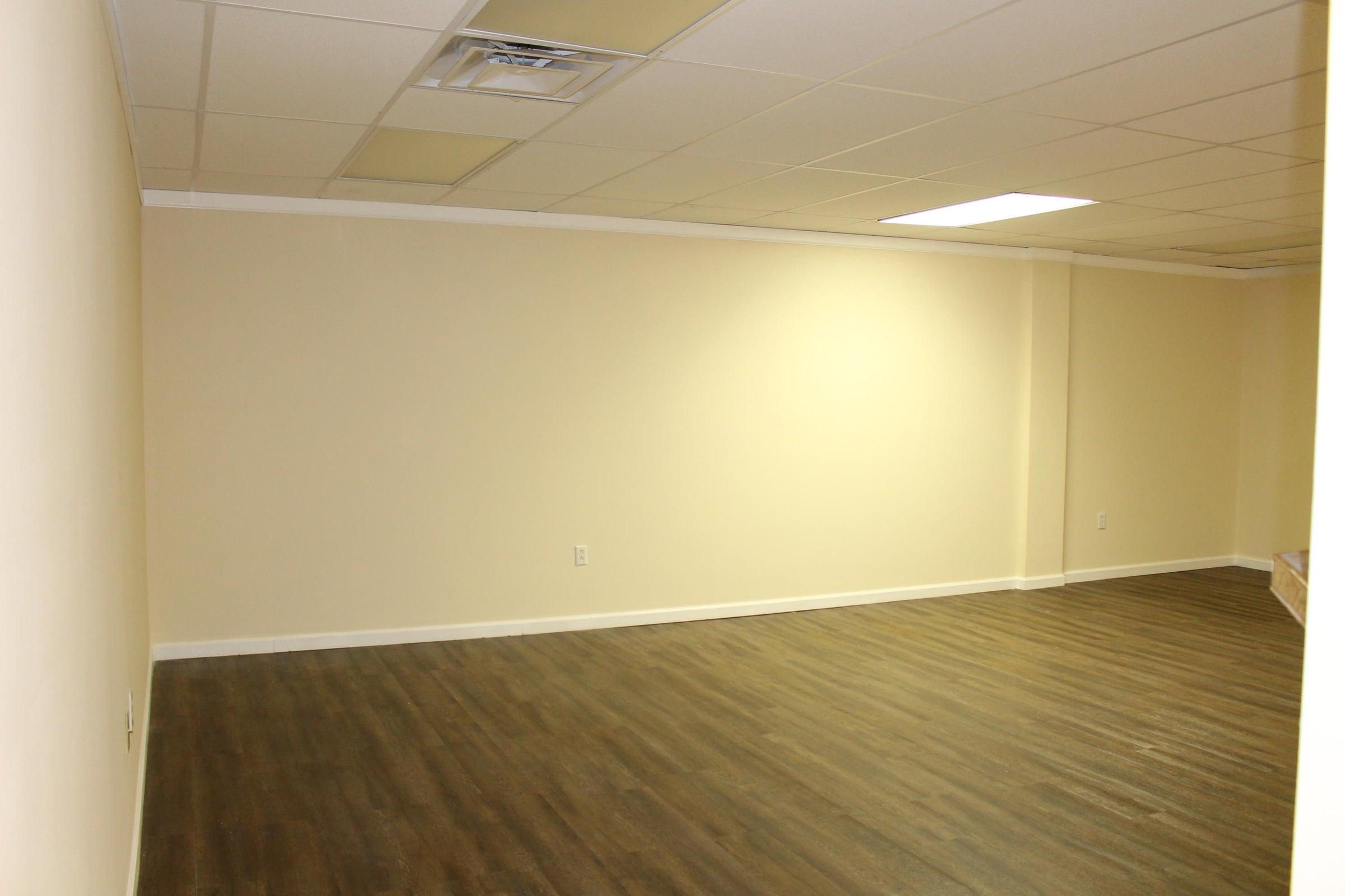 Rec Room Brand New Flooring in Basement