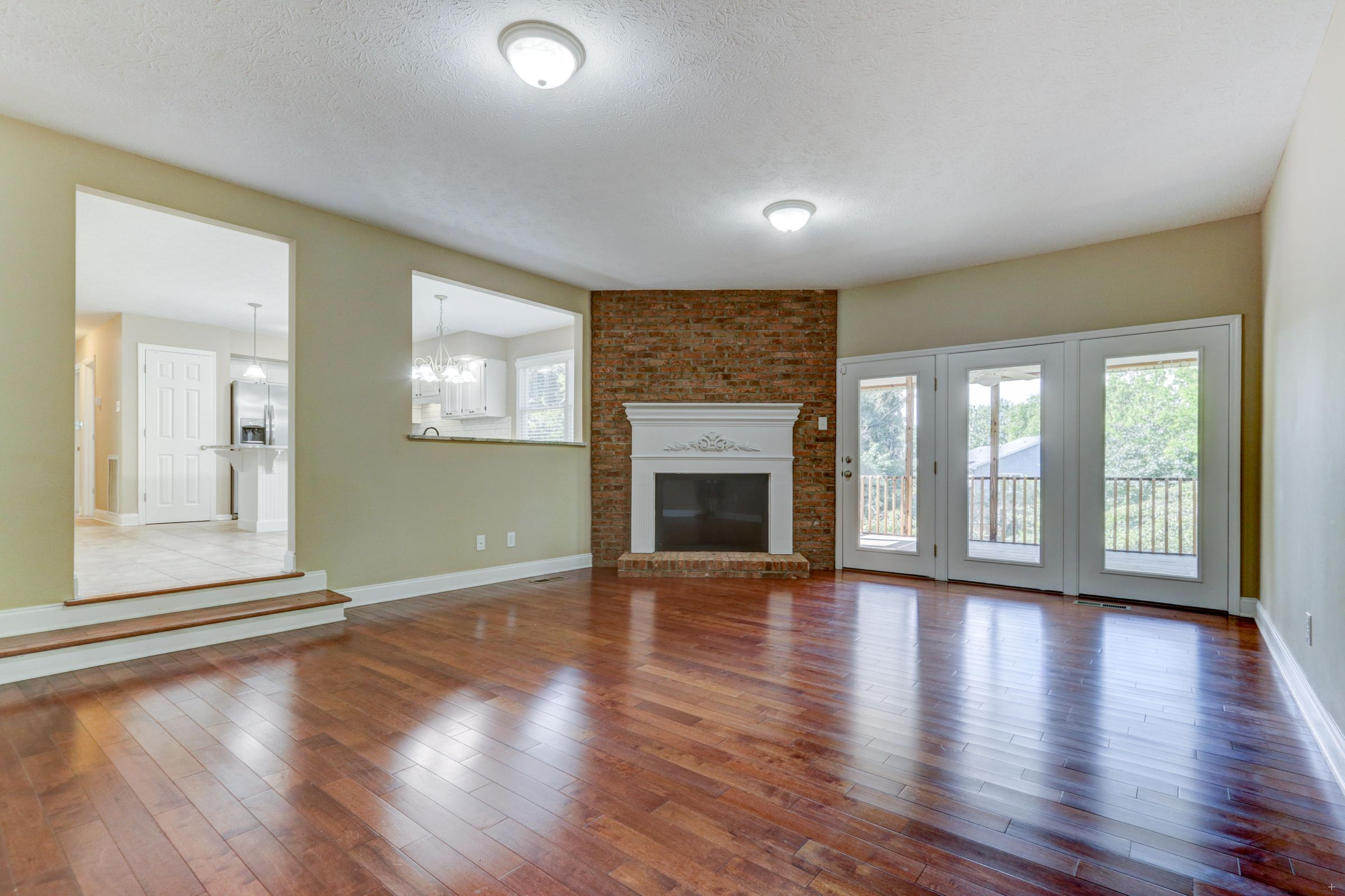 Family Room with Hardwood Floors